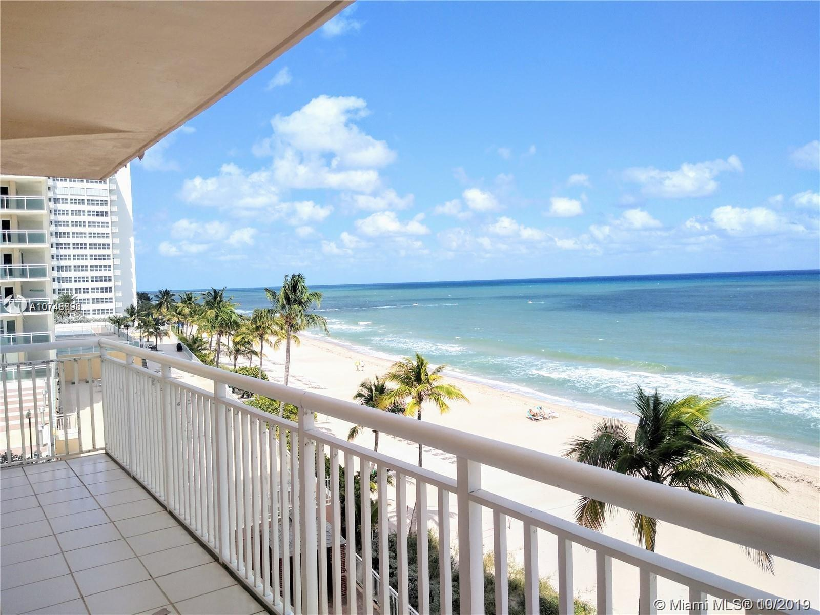 Spectacular Oceanfront Condo in the prestigious Galt Mile in Fort Lauderdale. With breathtaking ocean views, it features wrap-around balcony to enjoy the beautiful sunrise every morning, impact windows, bright kitchen with granite countertops, spacious living and dining area, lots of storage, laundry inside the unit, huge master bedroom with seating area, walking closet and big master bath with spa tub. 2 more bedrooms one of them with walking closet. Second full bathroom with spa shower and granite vanity. Oceanview from all the windows. 2 covered parking spaces. The building offers many amenities including the recently renovated lobby and elevators, exercise room, clubroom, heated pool, private beach access, BBQ area. Conveniently located close to shopping and restaurants. MUST SEE IT!