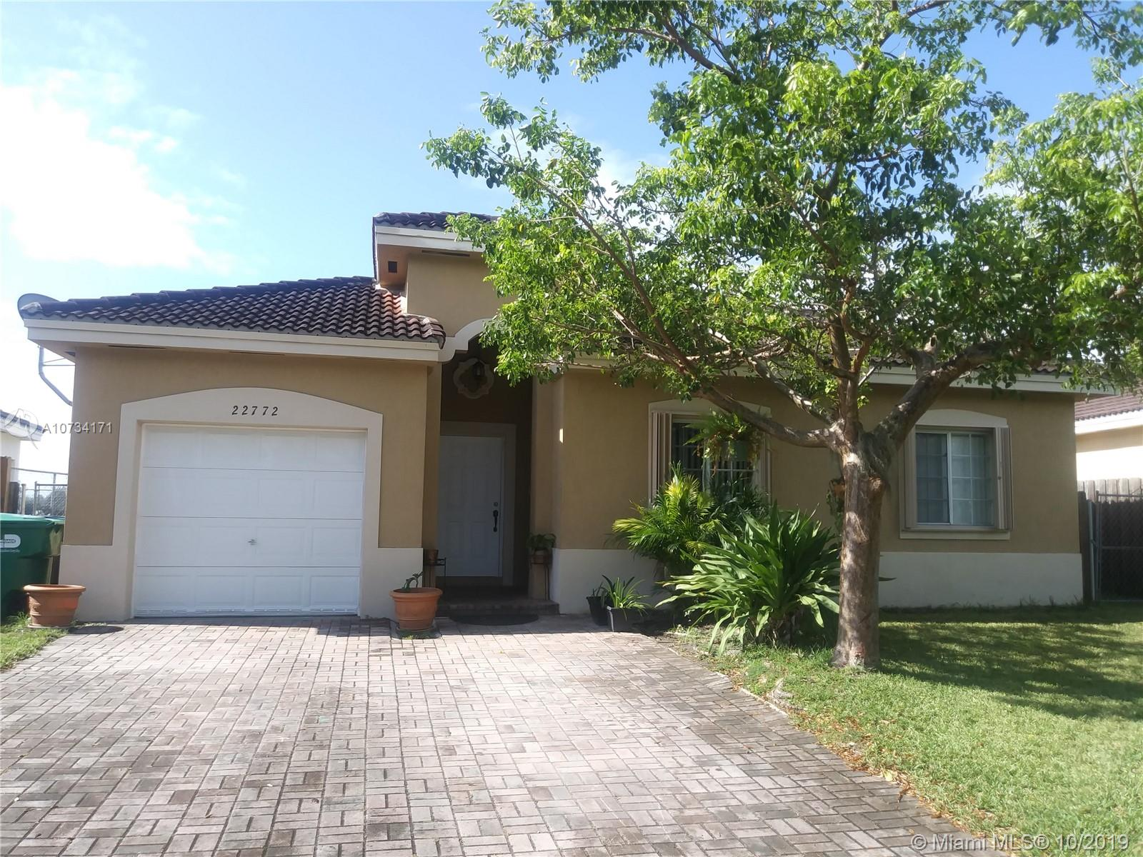 22772 SW 103 Ct  For Sale A10734171, FL