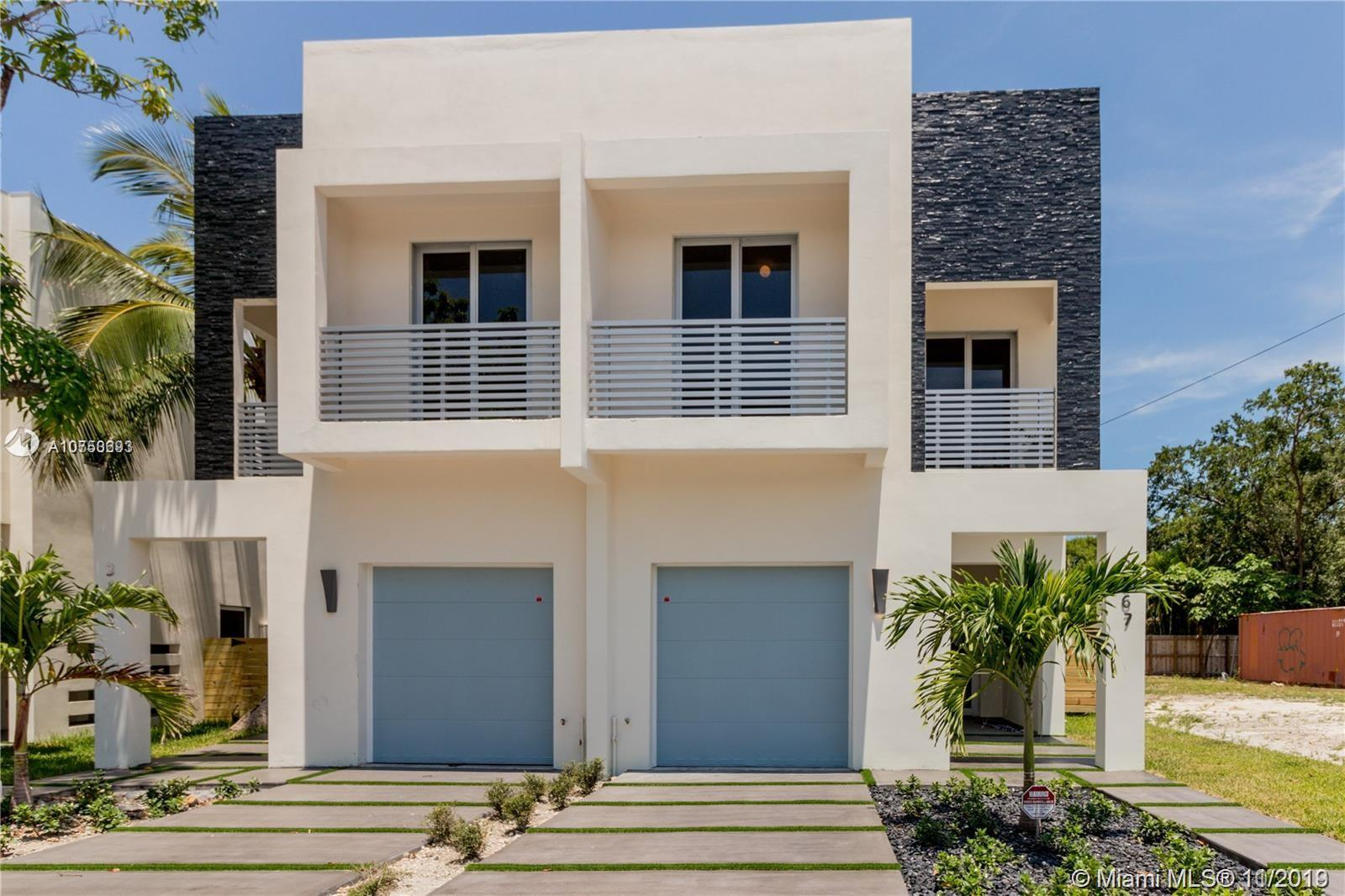 BEST PRICED TOWNHOME IN THE AREA!! Stunning 3 Bedrooms 2.5 Bathrooms New Construction Townhome in Coconut Grove, Beautiful Designer finishes, 24X48' Porcelain tiles Throughout, modern kitchen cabinets, granite countertops, high-end appliances, high ceilings & 8' solid wood custom doors with self-hiding hinges, modern plunge pool, impact windows and doors, finished closets, rollup blinds included. AMAZING LOCATION walking distance from the Coconut Grove Metrorail station and less than 10 minutes driving from UM, near world-class shopping, restaurants, hospital & great schools.