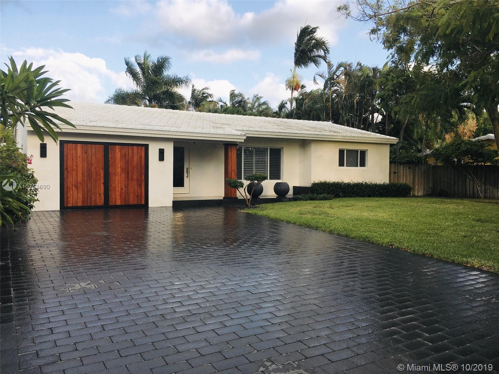 Move in ready! Newly renovated single family in perfect Wilton Manors. Prettiest house on the block. Great for a those looking for a worry free Wilton Manors oasis. Invite guests to splash in the pool, lounge in the sun, or enjoy drinks before heading to the strip for dinner. New landscaping includes 18 Japanese blueberry trees, multiple palms, and new sodding. Perfect for privacy. New driveway, new marble facade, new solid wood garage doors. New AC for reduced electricity usage. Resort style pool area with 40ft pool. (Home is on one of the larger lots in the neighborhood). Renovated Kitchen and bath. Continuous marble flooring throughout. Spacious garage. Each bedroom can fit a kingsized bed. Opportunities for customization and expansion.Make your Wilton Manors dreams come true!