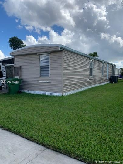 This lovely, renovated Manufactured Mobile Home offers 2BR/1BA and a great room. The beautiful kitchen features a quality stainless steel appliance package, contemporary-style cabinets, and granite counter tops. CASH OFFER ONLY.