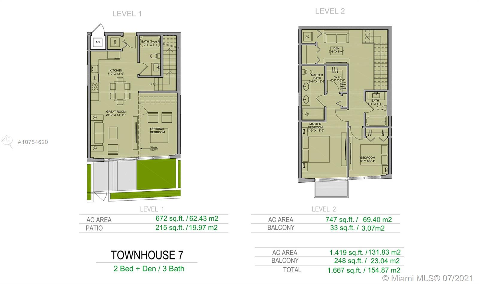 1600 SW 1st Avenue #TH-7 For Sale A10754620, FL