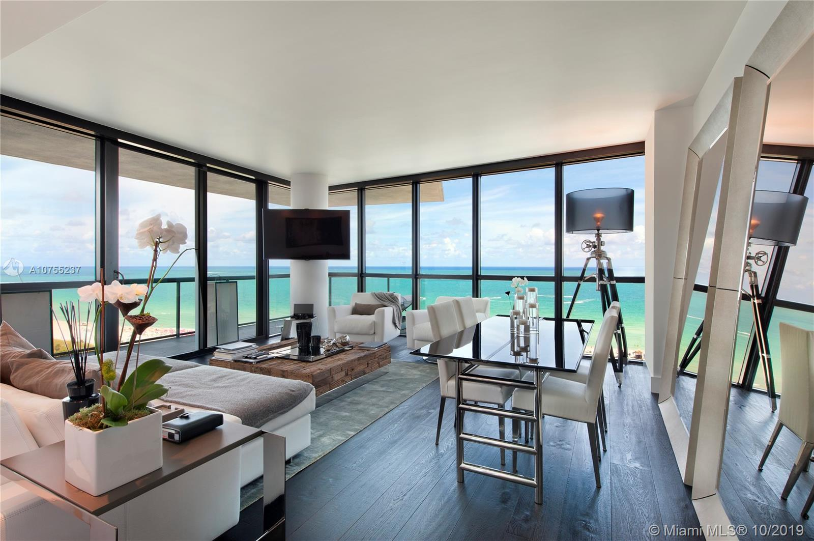 Northeast corner oceanfront 2 bedroom/2 bathroom at Setai South Beach.  Coveted line in Setai by those that know the building best.  Spectacular direct ocean views from every room.  Custom re-design, floor-to-ceiling windows, expansive wraparound terrace.  For the discerning buyer that wants to be pampered by hotel services.  The Setai's 5-Star amenities include 3 infinity pools, spa, beach, and poolside restaurant.