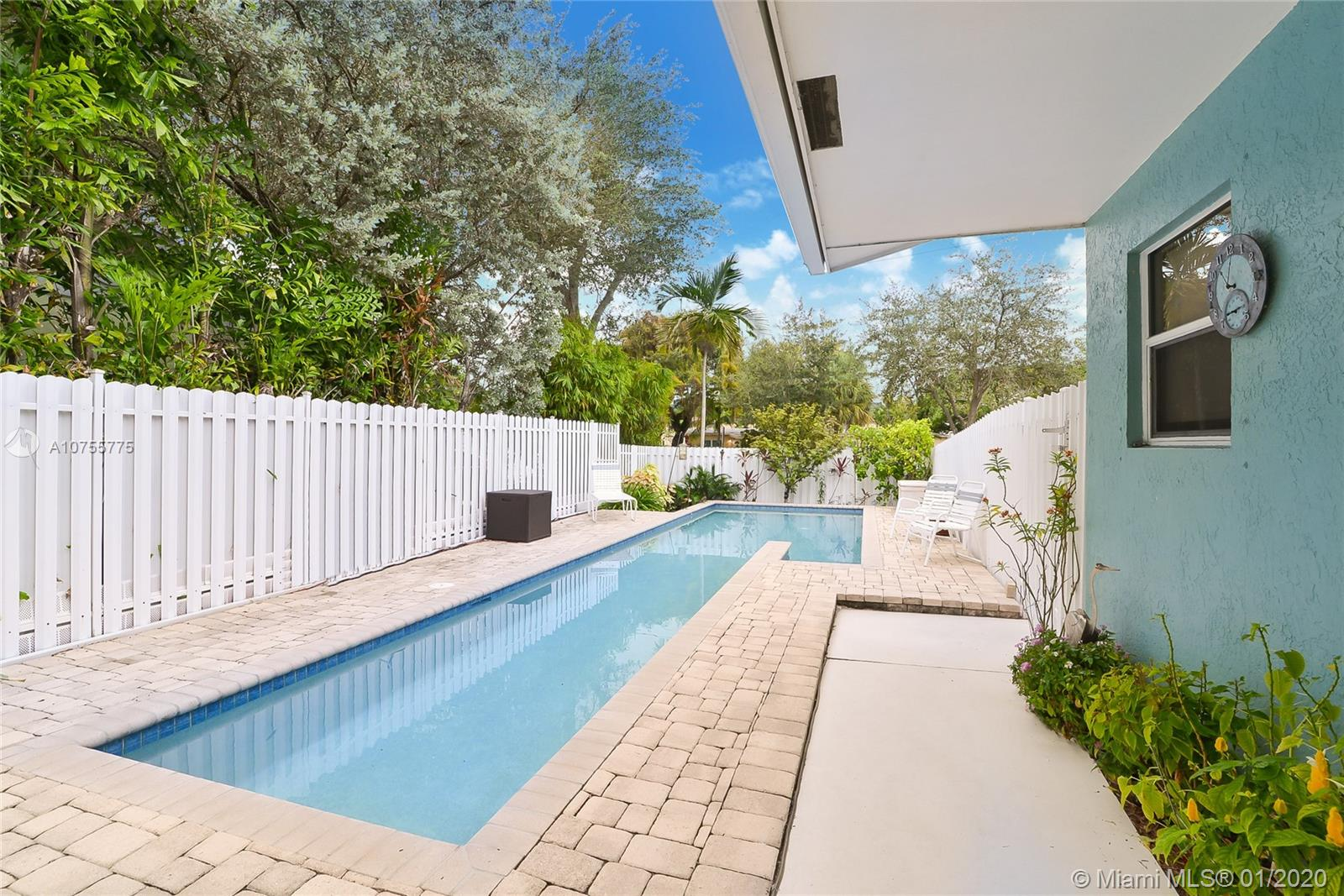 Incredible opportunity to own a Beautiful waterfront Pool Home with more than 1700 sq ft -Located in the Heart of Fort Lauderdale. Featuring 3 Bedrooms, 2 1/2 Baths.  NO HOA!!This multi-level residency boast many upgrades, including:  Impact Windows & Doors, featuring Dock-age with Power + Water Source; Tile Flooring and Carpeting in Bedrooms,  remodel Kitchen and Bathrooms. Easy access to Ocean. Expansive Terrace with Water  Views! Comfortable  Master Suite,  Walk-In Closet. 1- Oversize Car Garage plus additional Parking space. Completely Fenced and equipped with a wireless security system. Townhouse is not part of an HOA and has no fees.  Close to Shopping and Restaurants.