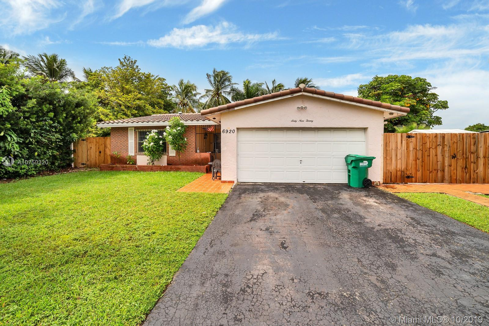 6920 SW 132nd Pl  For Sale A10750320, FL