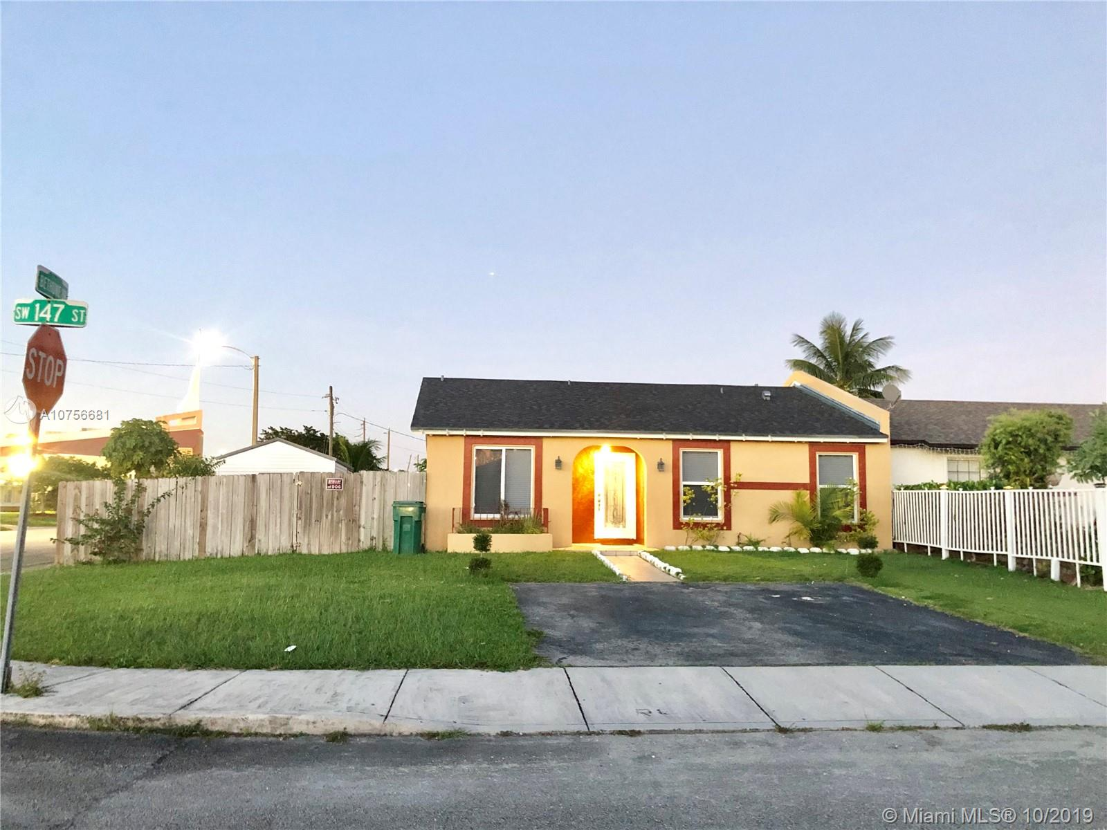 11415 SW 147th St  For Sale A10756681, FL