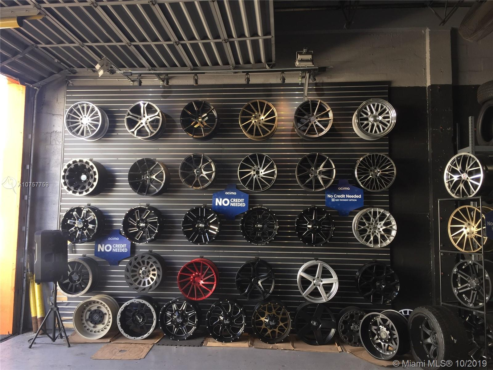 Wheel and Tire Shop, Incredible location in one of the busiest streets in Hialeah the 72 Street, Business open from Monday to Saturday. Excellent opportunity for a new mechanic or E2 Visa. License and all equipment is included on the sale. Only $3500 of monthly Rent. All the Inventory, tools and, 2009 Dodge Ram Pick up are included, Tire Changers, Lift, Wheel Balancer, Brake Lathes, Wheel Aligners, Wheel Weights. Tire Repair, and The place has, a fully Equipped office and, camera system,and two bathroom. Only Business