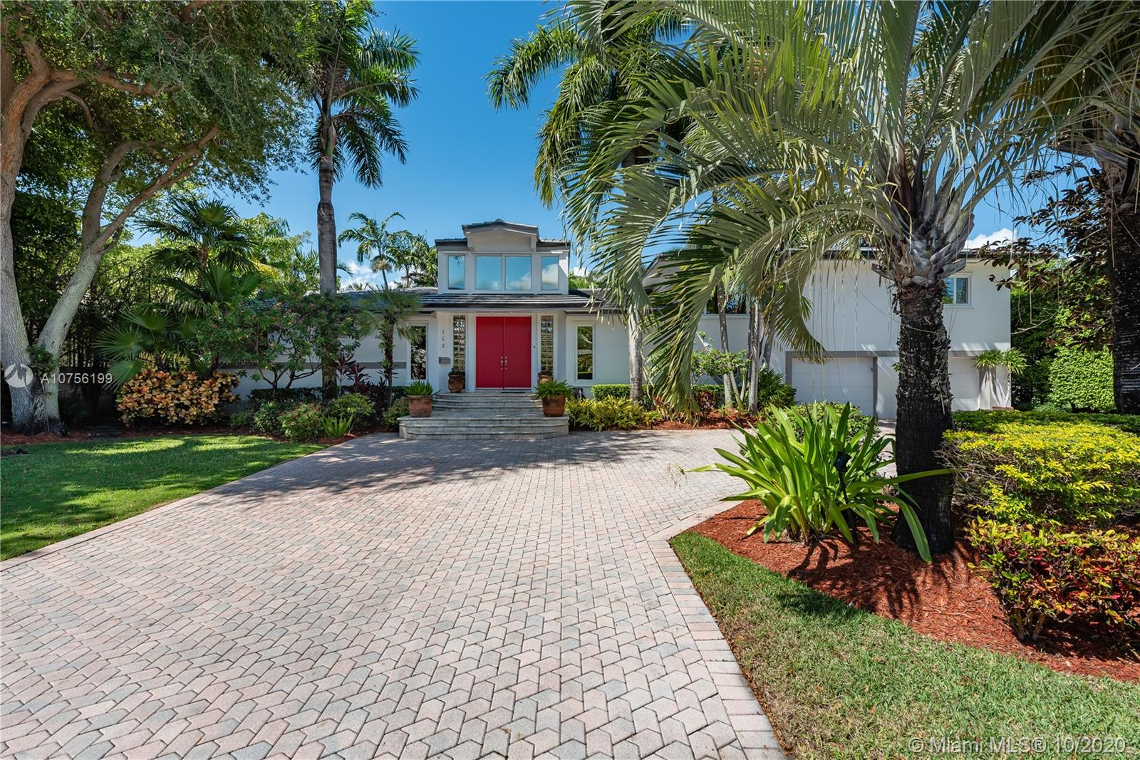 """Looking  for security, space, a yard, a pool ,exclusivity, &  a true neighborhood?  Maybe moving from up North? Look no further. This significantly renovated sun drenched mid century Bal Harbour Village family home features a private master suite w/ steam shower, oak & porcelain floors, separate children's wing, office, new roof, newer a/c's, maids room, cabana bath, builtin vac, 2 car garage.... The kitchen has granite counters, double ovens, gas stove w/lots of storage.  Rose & herb gardens, mature landscaping and built in bbq help to create a private poolside oasis. This heritage home is being offered for the first time in 24 years. """"Peace Village"""" is a coveted hidden gem w/ its private streets, marina, access to parks & beaches, along w/A+ rated schools, shops and houses of worship."""