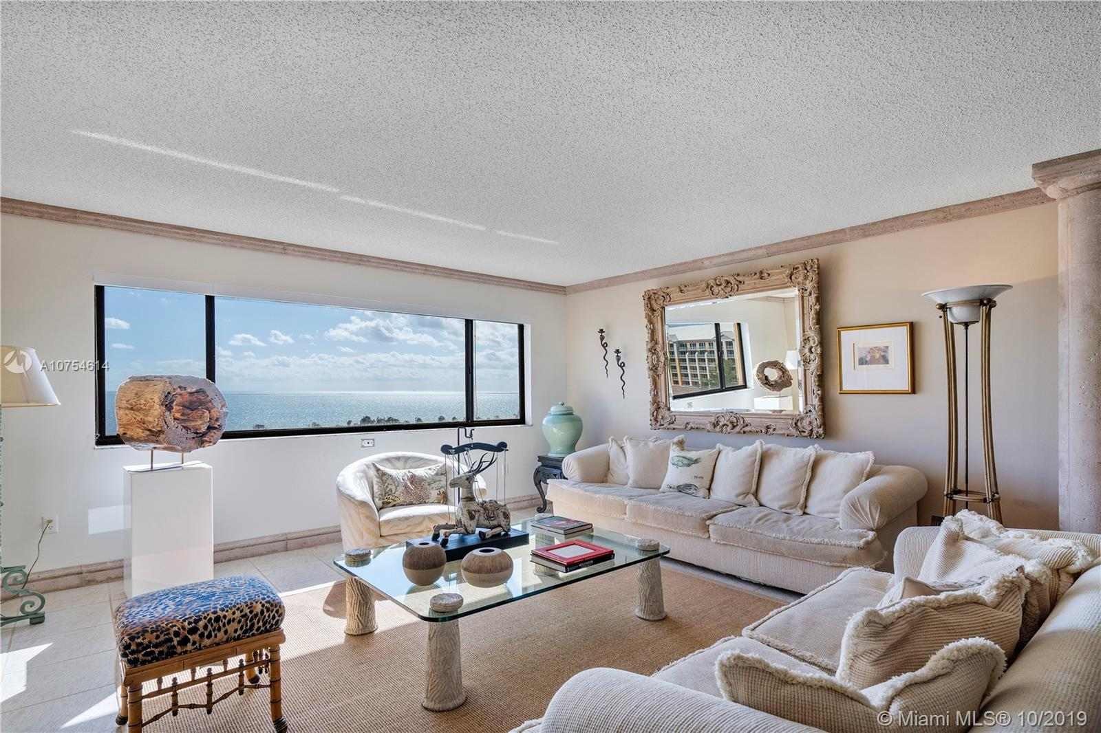 Incredible Ocean Views from every room of this Penthouse Unit. This 2Br/2Bt PH is very bright and spacious. Master Bedroom features two walk-in closets, with his/her sinks, tub and separate shower recently remodeled. 2nd Bedroom with a large closet and a detached bathroom. Large dining room area adjacent to the family/living room. Laundry Room. 2 assigned spaces, new pool, clubhouse, and on-site management. Private Beach Access included. Close to the best restaurants, shops and parks in Key Biscayne. Please text Victoria at 305-431-4090 to schedule showings.