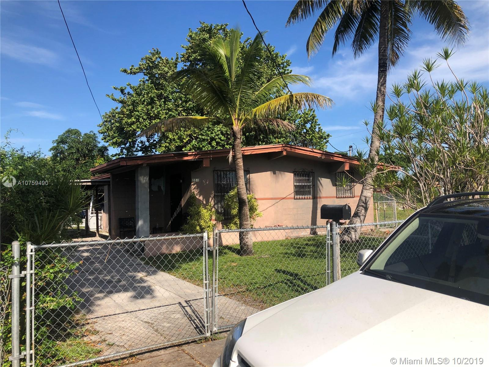 5510 NW 13th Ave  For Sale A10759490, FL