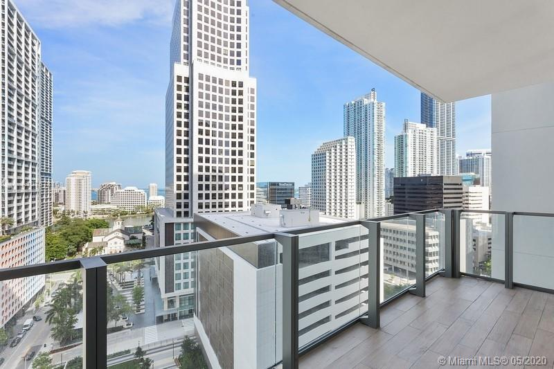 Beautiful 2 Beds and 2 ½ Baths+den at Luxury tower Reach Brickell City Centre. Ultra-modern Italian kitchen cabinets by Italkraft, Premium Bosch appliances, 36 refrigerator, 300 series microwave, integrated panel, quiet dishwasher, built-in convection oven and ceramic glass stove, Uline 48-bottle temperature-controlled wine storage. Enlarged, stainless steel, square-edge sink with single-lever, European-style pullout faucet sprayer. Imported marble floors with mosaic marble tile walls in wet areas. Great Amenities: On-site 24/7 concierge services, 24-hour valet service, Assigned parking in secured garage, Personal library, fitness center with exclusive fitness studios and machine rooms, kids playroom, viewable from fitness center, Private spa. Furniture is negotiable. MUST SEE UNIT!!