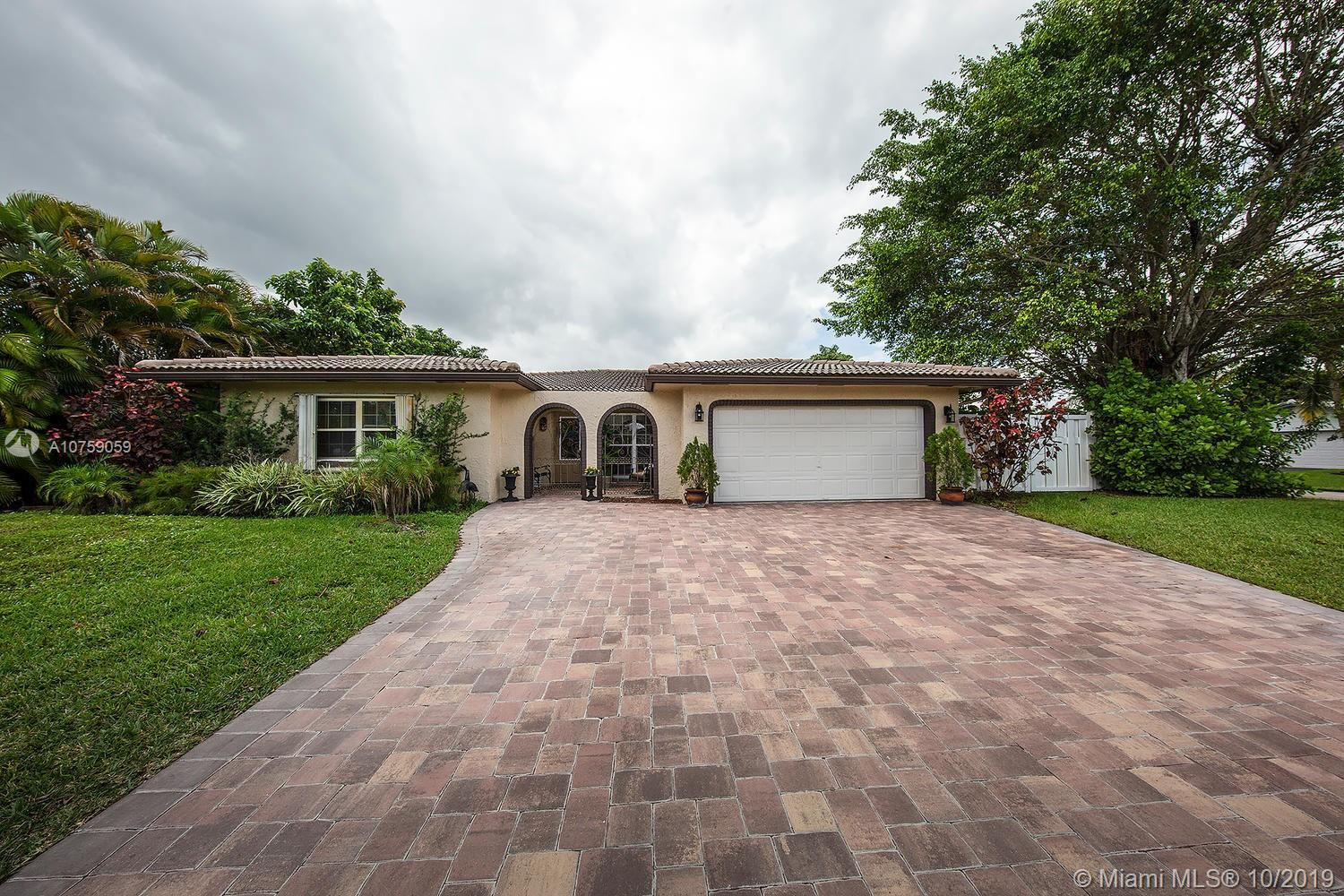 Unique opportunity to own a Spectacular remodeled Corner lot in the heart of Coral Springs. This property features a unique corner lot with a large pool and fenced in yard. Interior of the property has been almost fully renovated providing turn key finished all throughout the property, just bring your furniture and move in! Take advantage of this Prestigious, sought after neighborhood with NO HOA!! Close to major highways, shopping plazas, and A+ schools for all ages, this beauty will not last, please contact listing agent for all showings today. (financing available through preferred lender, contact me today on how you can save 1% off closing costs)