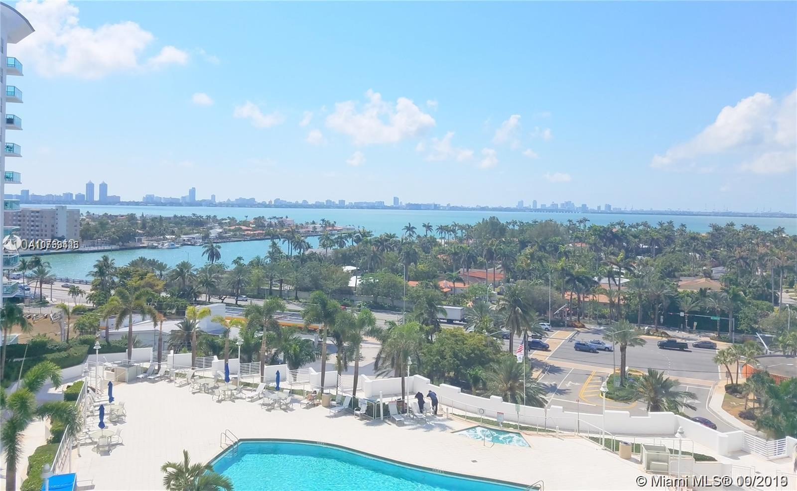 Unbelievable water and downtown  views from every room in this beautiful 2 Bedroom 2 Bath Condo. Laminated floors all through out, granite counter tops and Stainless Steel appliances. Washer and Dryer inside the unit. Resort Style living: Fitness center, Pool, Jacuzzi, 24-hour Security, Valet and much more. Perfect location, easy access to Miami. Unit rented for $2350 a month. Please give 24hs notice to show.