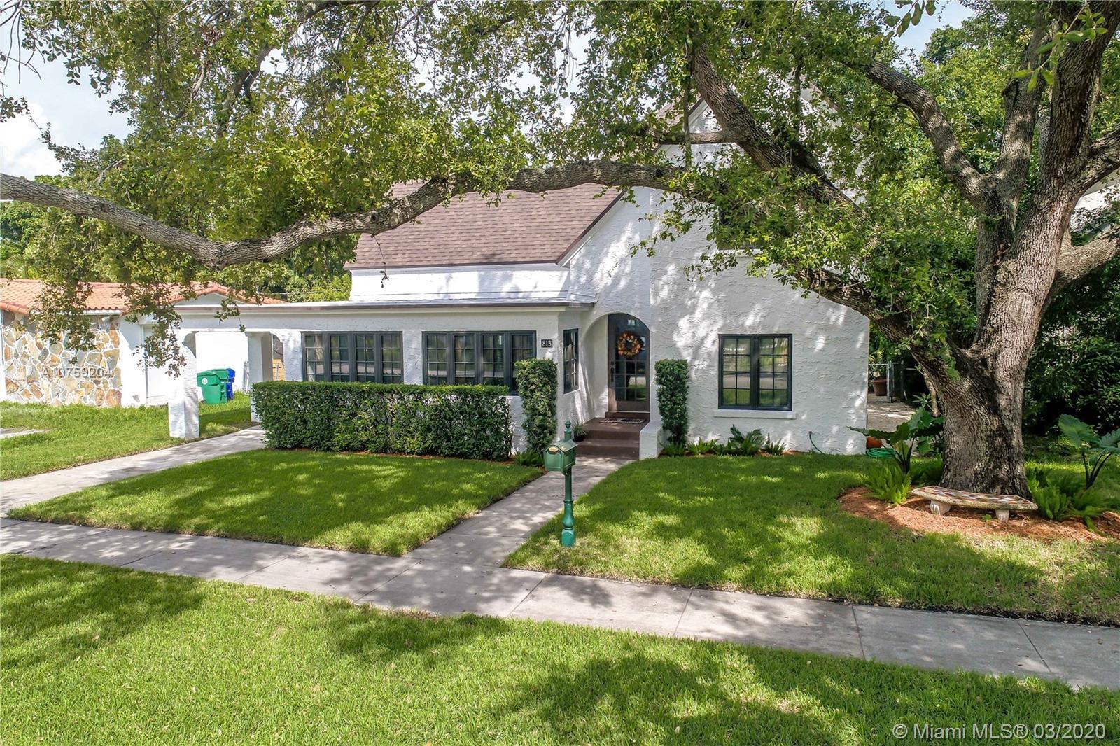 813 NE 81st St  For Sale A10759204, FL