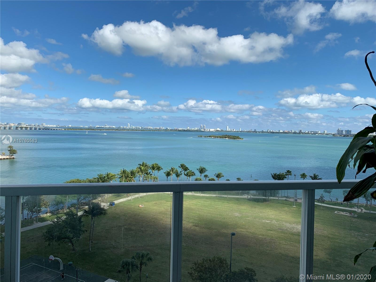 Spacious and oversized with living area and full den area / 1 full bath. 16 foot Ceiling Direct view of the Bay and Margaret Pace Park. Walking distance to Arsht Performance, Science and Art Museum and American Airlines Arena. Amenities included 2 heated pools, 2 story fitness with yoga & aerobics, spa, sauna, party and billiard room and 24 hours concierge.Unit is rented for $1,800 till March 2020.