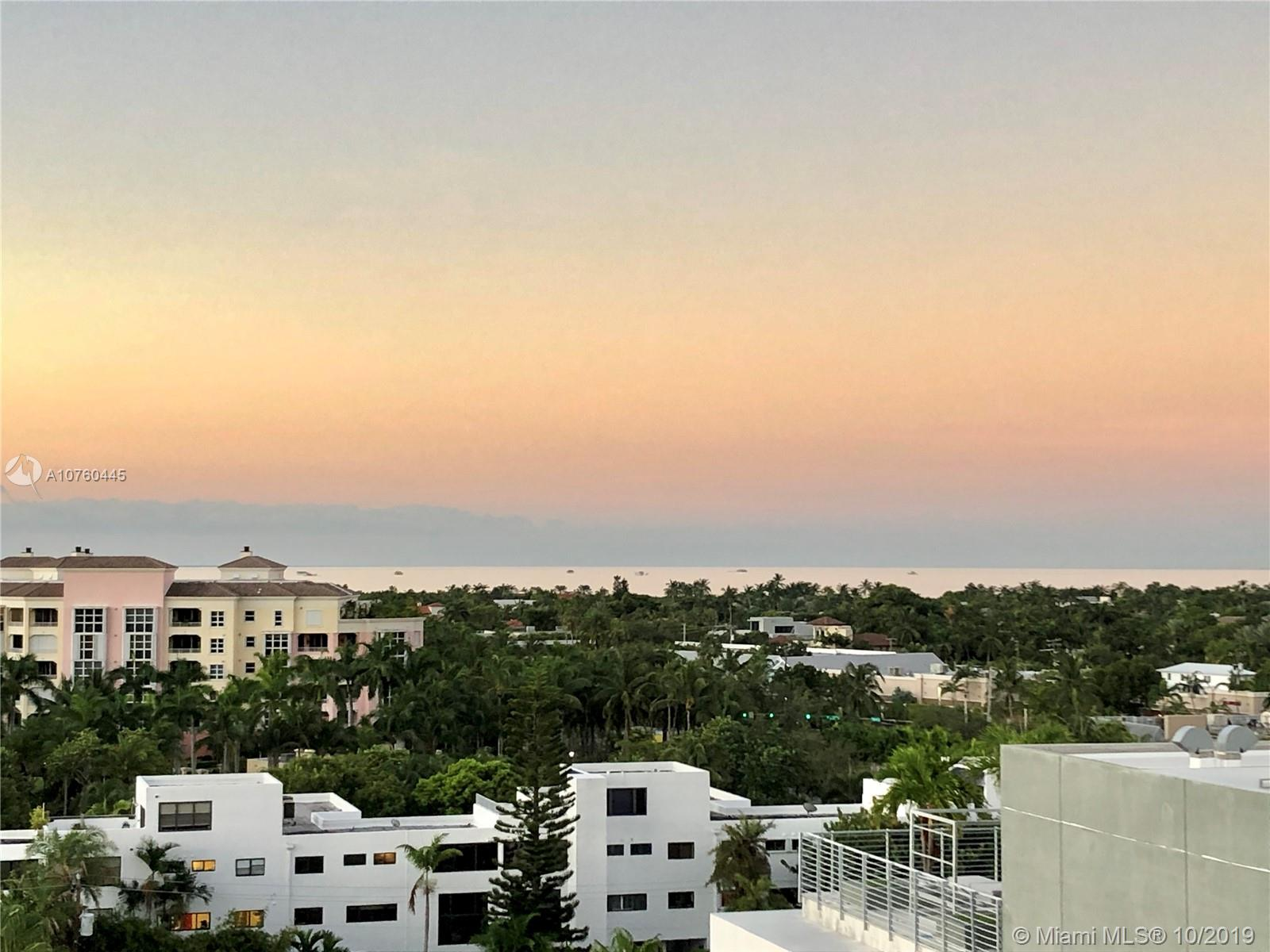 REDUCED!!! Gorgeous views from this updated 1 bedroom, 1.5 bathroom 1013sf condo on the top floor of the Key Biscayne Ambassador! Very low maintenance fee!! Bright and modern unit with ceramic tile throughout. The kitchen was moved to make a second room. Large balcony to enjoy the beautiful views. Walk-in closet, 2 assigned parking spaces (1 covered close to entrance and 1 not covered) with ample guest parking as well.  Laundry room on the same floor. The building was renovated a few years ago and has a gym, community room, heated pool with BBQ, bike storage, golf cart charger, car washing area, and private deeded beach access. Wonderful location steps from the beach, restaurants, shops, supermarket, Key Biscayne K-8 public school, Village Green, and Bill Baggs State Park.