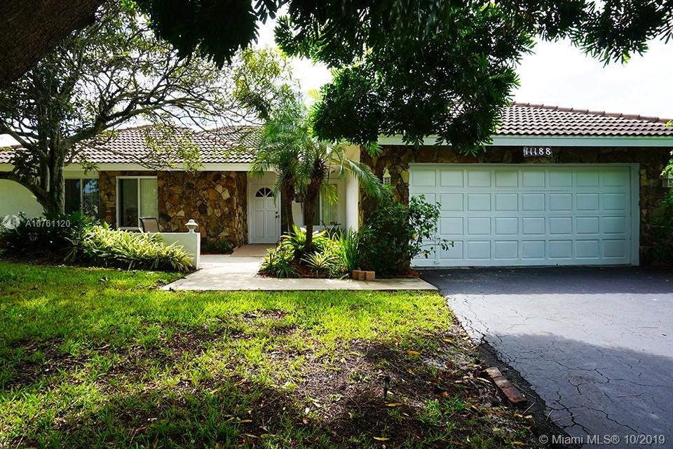 Beautiful 4/2.5 waterfront pool home on an oversized lot in the heart of Coral Springs. Upgrades include 20K watt house generator auto switch over, partial impact windows, shutters, vaulted wood ceilings, new bedroom flooring, spacious kitchen, wood cabinets, granite countertops, SS appliances, new washer/dryer 2018, modern bathrooms w/ LED custom faucets, master bedroom walk-in cedar wood closet, his/her sinks +vanity and walk in shower. Home features special medical capabilities: wide hallways/doorways, open shower, removable ramp. AC 2 zone feature, Nest thermostat 2012, new exterior paint 2017, 2 car garage, and screened pool patio overlooking waterway. NO HOA. Conveniently located near schools, shops, dining & Sawgrass Expressway. Must see.