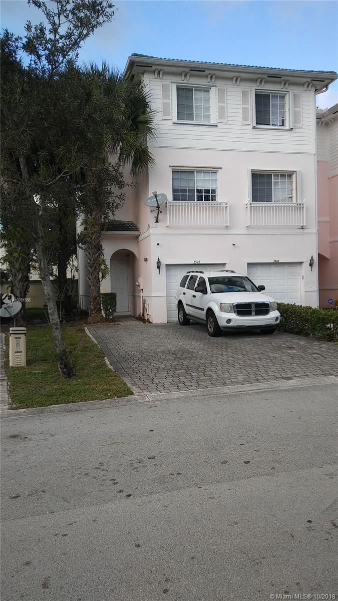 This 3 story corner unit townhouse is nestled in the Casa Georgetown Community in Lauderhill. The master bedroom owns the entire second floor. The two other bedrooms are spacious and the property is complete with 2 full bathrooms and a half bath for guests. The location is convenient to highways, shopping centers and bus routes.The seller is motivated!