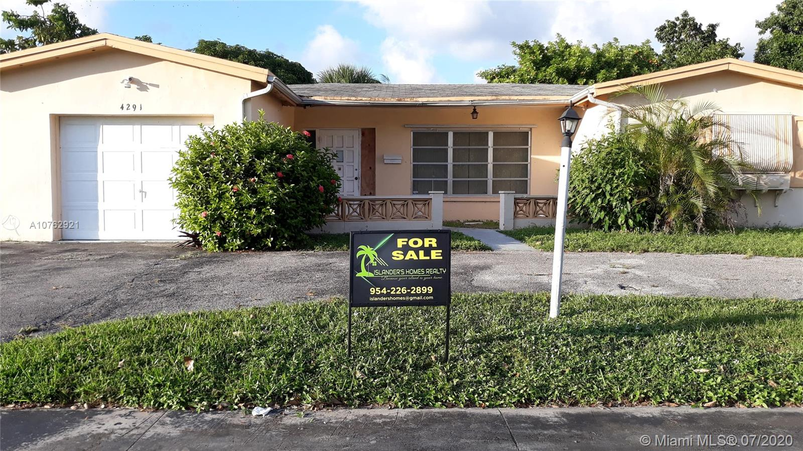 4291 NW 44th St  For Sale A10762921, FL