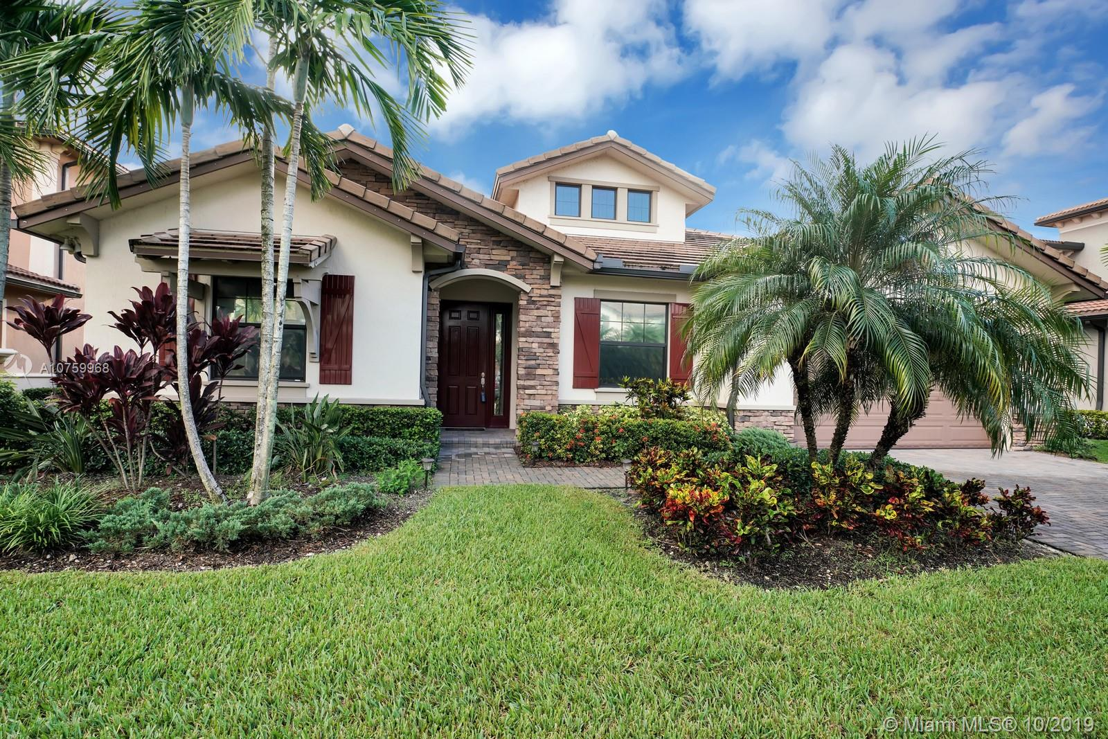 Beautiful One Story 4 Bed (one's now office/den), 2.2 Bath Home on a wide Waterfront Lot with 3 Car Garage. Well Over $100K in Upgrades. Open Kitchen, Center Island with Granite Countertops, Glass Tile Backsplash, SS Appliances. Tray Ceilings, High Impact Glass throughout, Plantation Shutters, Built in Closets, Crown Molding. Laundry Room. Screened Patio.Fully Fenced Backyard, Lawn Care Included. Enjoy living at WATERCREST, a Guard Gated  Community that offers Resort Style Amenities. A- Rated Schools.+++REALTORS, please read broker remarks+++