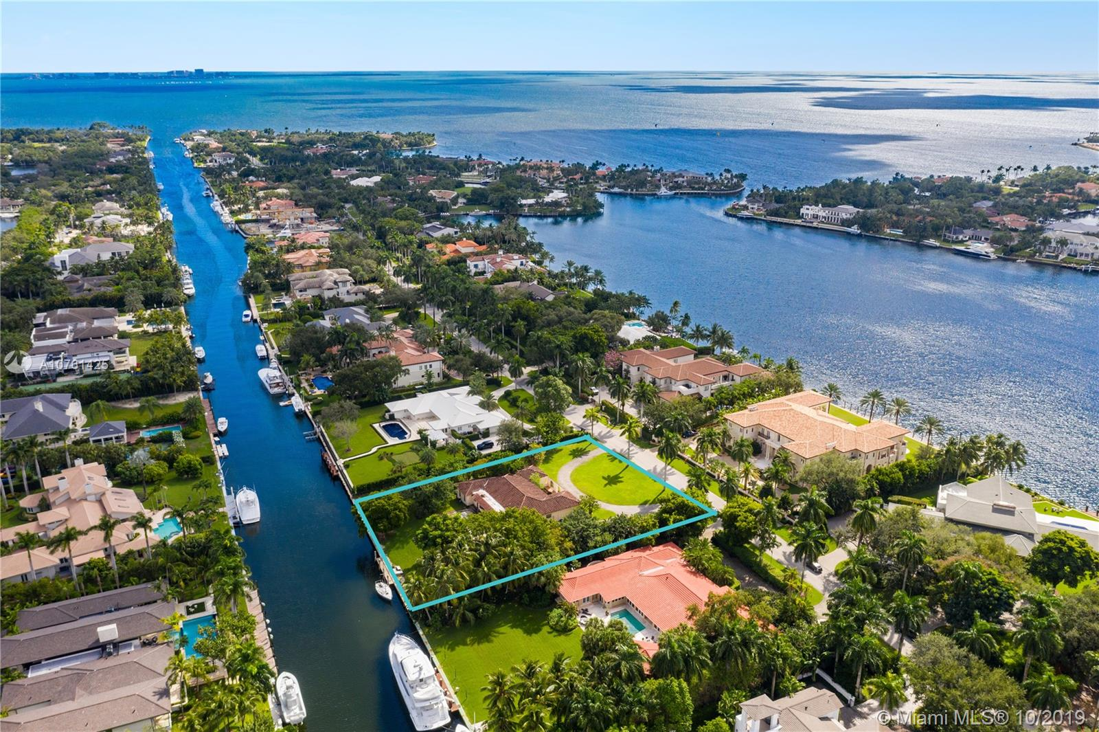 "Envision your ideal custom-built sanctuary in the prestigious and exclusive Gables Estates community. This rare development or redevelopment opportunity calls for your vision on a 40,711 SF Lot with 200 FT of water frontage. A private deepwater canal grants easy navigation with no bridges into Biscayne Bay. The property comes with varying types of palms and exceptional shade-bearing spaces near the rear and side perimeters. It all starts with the right location, the rest is a Bay breeze away. ""If you can dream it, you can do it"" - Walt Disney."