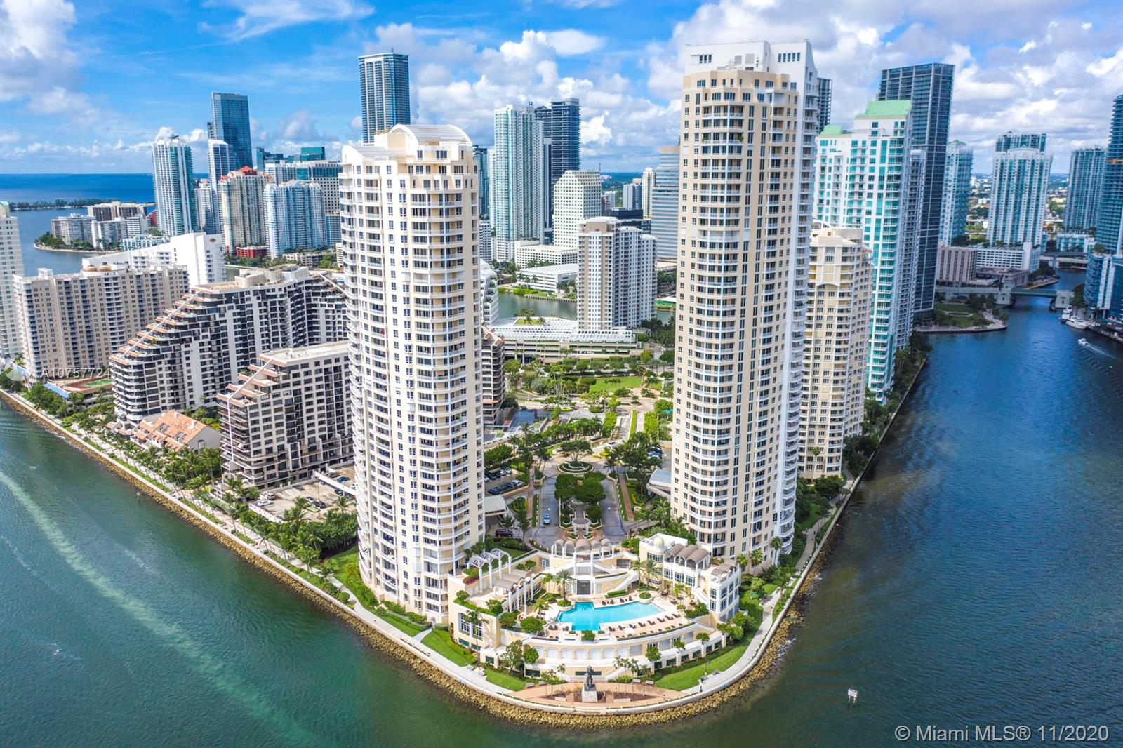 Prestigious & Perfect NON obstructed View of Tequesta III!! Corner unit on Line 1 with wraparound balcony overlooking the stunning direct Open Waters, This exquisite condo located at the prime location of Brikell Key Island with top of line amenities offering a FIVE STARS SERVICE around the Island. It  offers hight Ceilings compare to others 3 Large Bedrooms with 2.5 Baths, 2 Parking Spaces, Storage Room, New Floors and Remodel Kitchen, Very open and bright kitchen leading to the balcony, pool area & turquoise waters. Enjoy the Private Island Living with no need to leave the key  and offering a 5 Stars Hotel, Step out the key & enjoy the night life full of sophisticated dinning restaurants, Shopping Mall with  prestigious top of the line boutiques, Museum, Ballet/Operas and much more.