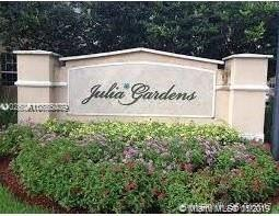 Gorgeous 3 bedroom 3 1/2 bathroom unit in Julia Gardens @ Coconut Creek. This lovely townhome is located in a boutique community and has everything a growing family needs including upgraded kitchen and bathrooms, 2 master bedrooms upstairs for a total of 3 bedrooms and 3 bathrooms upstairs, 2 walk in closets in main master bedroom,  separate tub and shower in main master bathroom, full size laundry room, plenty of storage both upstairs and downstairs, full size garage, plenty of guest parking, great common areas and walkways including pool, parks, plus easy access to Sawgrass Xpwy and I-95.