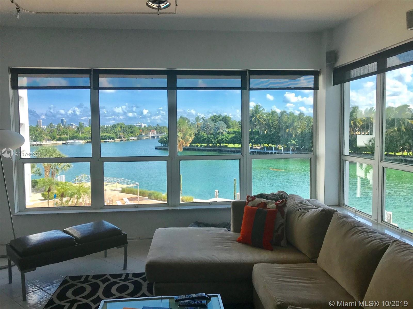 Immaculate 1 bed/den,1.5 bath, 9ft ceilings, easily converted to 2/2 completely remodeled. Generous closets custom walk-in closet . A/C included in maintenance. Blair house Iconic mid -modern century building claims the islands best waterfront location. Building has 80 units, 4 units per floor, just completed $4 M in upgrades . New lobby, halls ,waterfront gym and heated pool. Marine life  and passing yachts, kayaks ,paddle boards and extra storage .Bike path, walk to area pristine beach, Starbucks, Bal Harbour Shops and restaurants. AK-8 public schools houses of Worship.No fixed bridge. Small pet up to 20 lbs. Furniture Negotiable. INVESTOR INCENTIVE. Rental allowed day of Purchase. Easy to show 9 am to 9 pm.