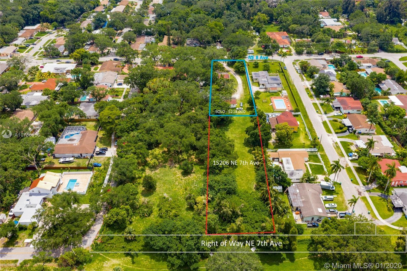 15206 NE 7 Ave  For Sale A10766056, FL