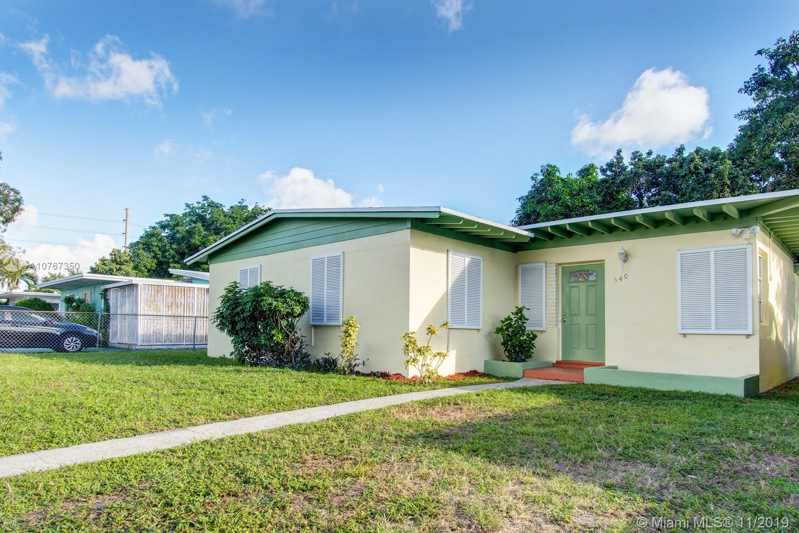 540 NW 119th St  For Sale A10767350, FL