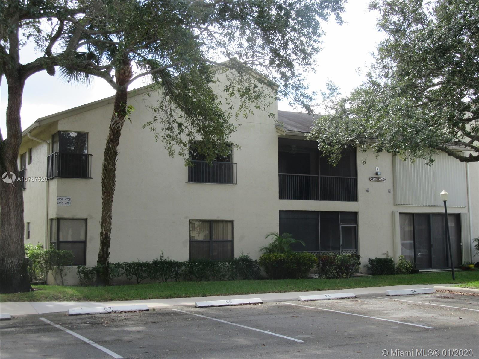 FANTASTIC 3BEDROOM. 2 BATHROOM SECOND FLOOR UNIT. NEW KITCHEN APPLIANCES, FRESHLY PAINTED AND NEW CEILING FANS INSTALLED. It is a split bedroom plan with a large master bedroom with a walk-in closet This is a very quiet area behind the Coconut Creek Police station with all the township amenities included. This unit can be rented after 1 year of ownership. plenty of guest parking by this unit. There are 2 maintenance payments $339 per month to Baywood Village 2 and $158 per quarter to the Township Community Master Association