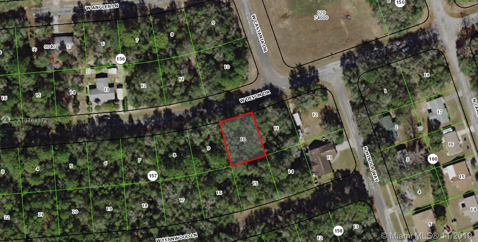 2404  W Devon Dr LOT 10  For Sale A10768372, FL