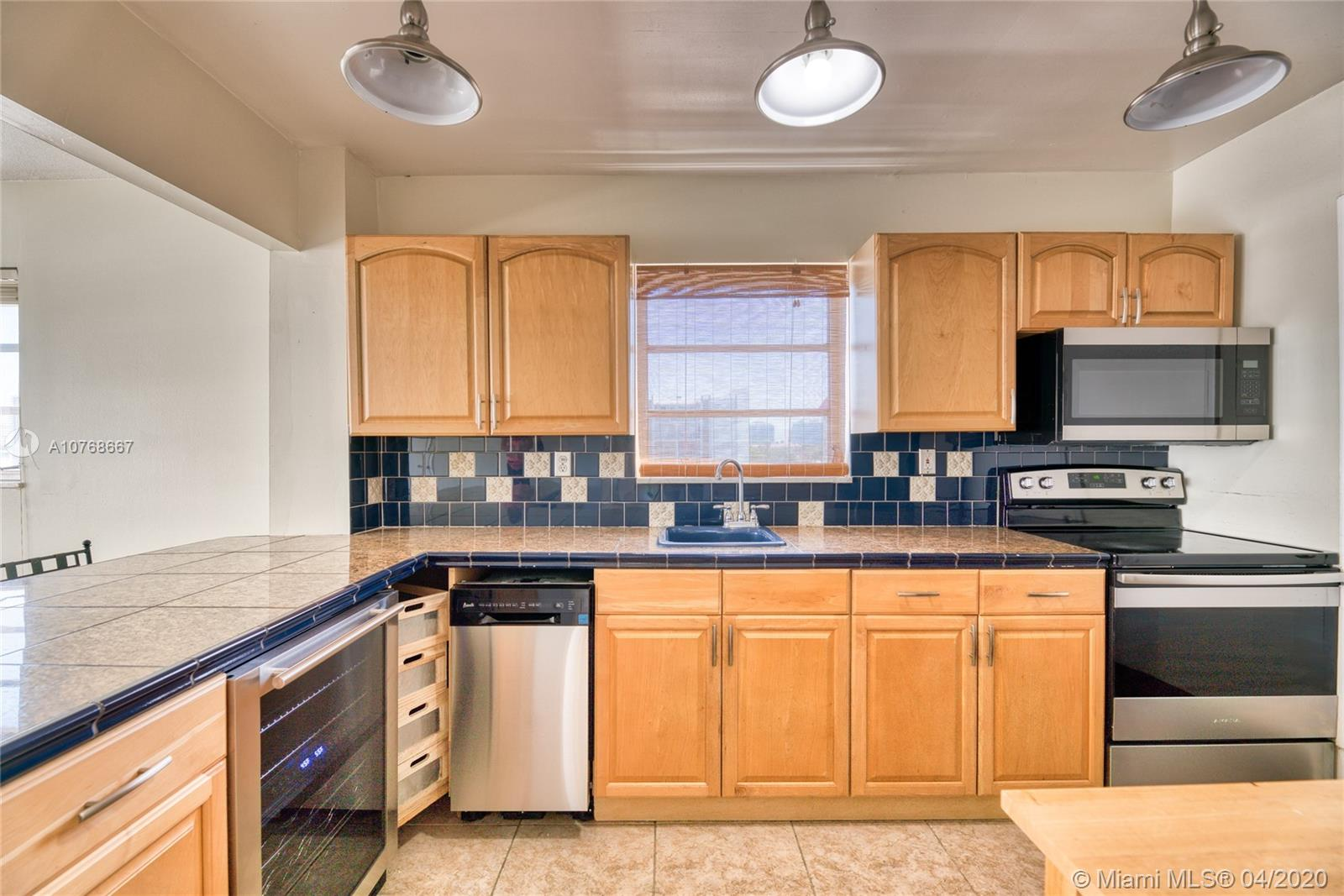 Best unit location in the building! Top floor, North side, double corner unit with views of the intracoastal from your living room and kitchen. Lots of windows with abundant natural light. Tile floors, both bedrooms have en suite baths. 12 units, 5 floors total. large storage unit, laundry on site, pool, parking. Great location, walk to beach, Bal Harbour shops, library, cafes, dinning, shops, house of worship. A+ K-8 school and much more! Can rent 1st year! LOCATION, LOCATION, LOCATION!