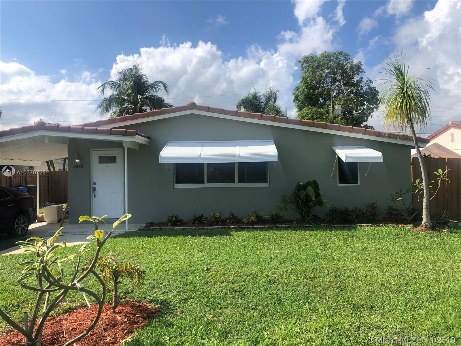 Awesome remodeled gem in the sought after Patterson Park subdivision of Oakland park! This home is a must see with updates in the kitchen, flooring, along with beautifully updated bathrooms and brand new paint throughout the interior and exterior of the home. This home also features a spacious front yard and a backyard with a pool that will be great for family gatherings and entertainment. Washer and dryer included. This home won't last long!!