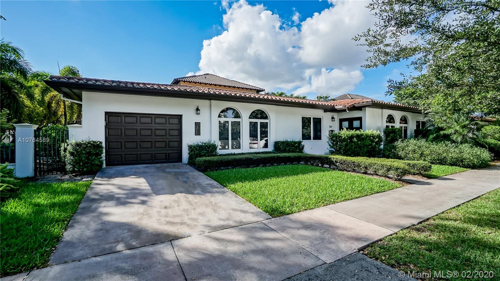701  Madeira Ave.  For Sale A10764589, FL