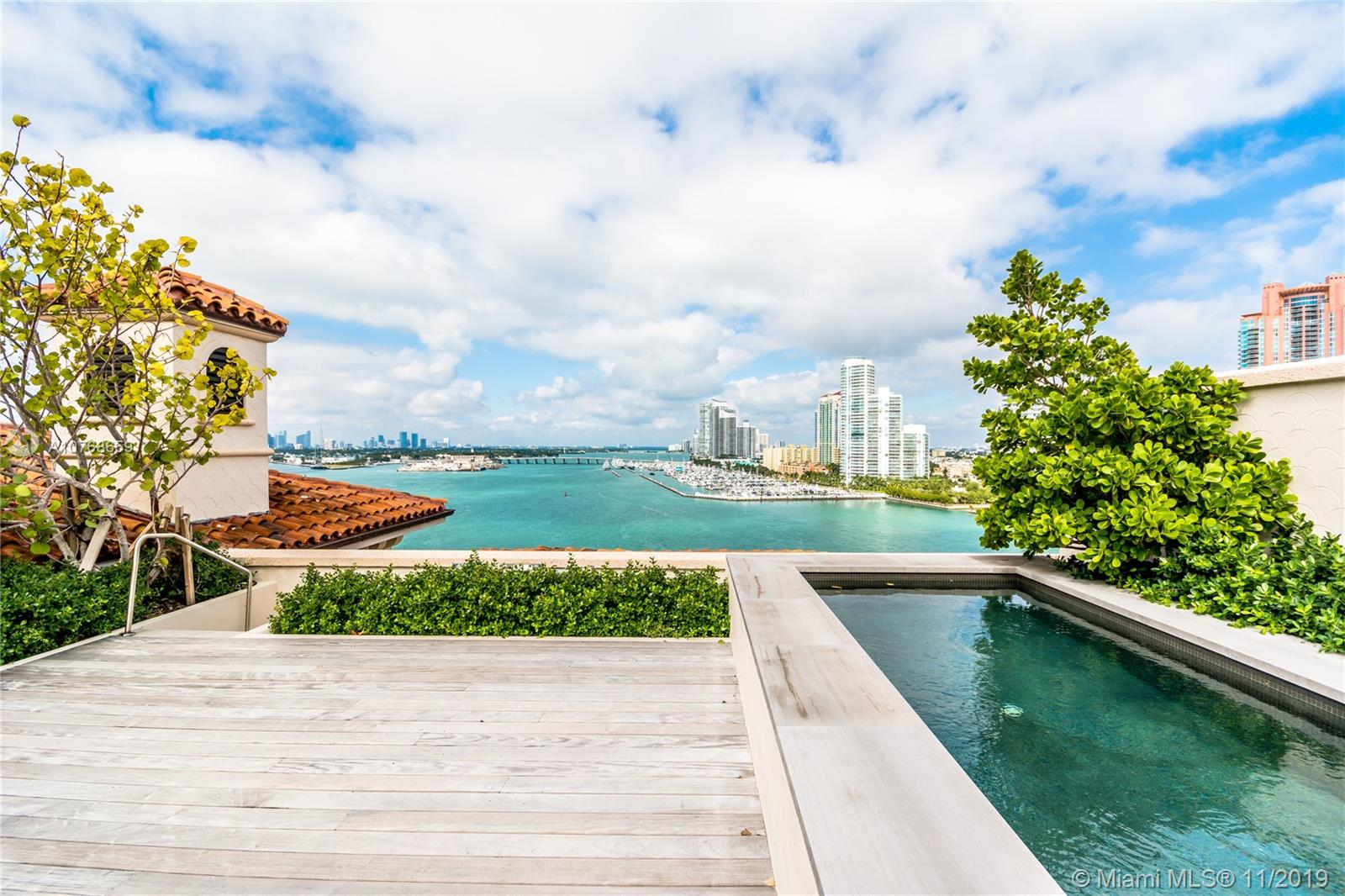 LAST TROPHY PENTHOUSE WITH ROOFTOP POOL + PRIVATE DECK AT PALAZZO DEL SOL IS A DESIGNER'S DREAM! This 4 Bed/4.5 Bath Open Floorplan features 6,644 Interior SF + 5,171 total SF on 2 Terraces (as per seller). Enzo Enea-Designed Private Rooftop Terrace for Entertaining w/Zero-edge Pool, Ipe Wood Deck & Pergola + Viking Outdoor Summer Kitchen. West Exposure offers Gorgeous Panoramic Vistas of Star Island, Biscayne Bay, South Beach + Ocean. Guest Suites enjoy Sunset + Fisher Island Golf Course Views. Private Elevator into Expansive Living Areas w/Soaring 18' Ceilings. Boffi Gourmet Chef's Kitchen in White w/Gaggenau appliances. Boffi Master Bath w/Statuary BookMatched Marble, Boffi Bathtub & Dornbracht + Duravit fixtures. Full-Service Building w/6-Star Amenities including Sunrise + Sunset Pools