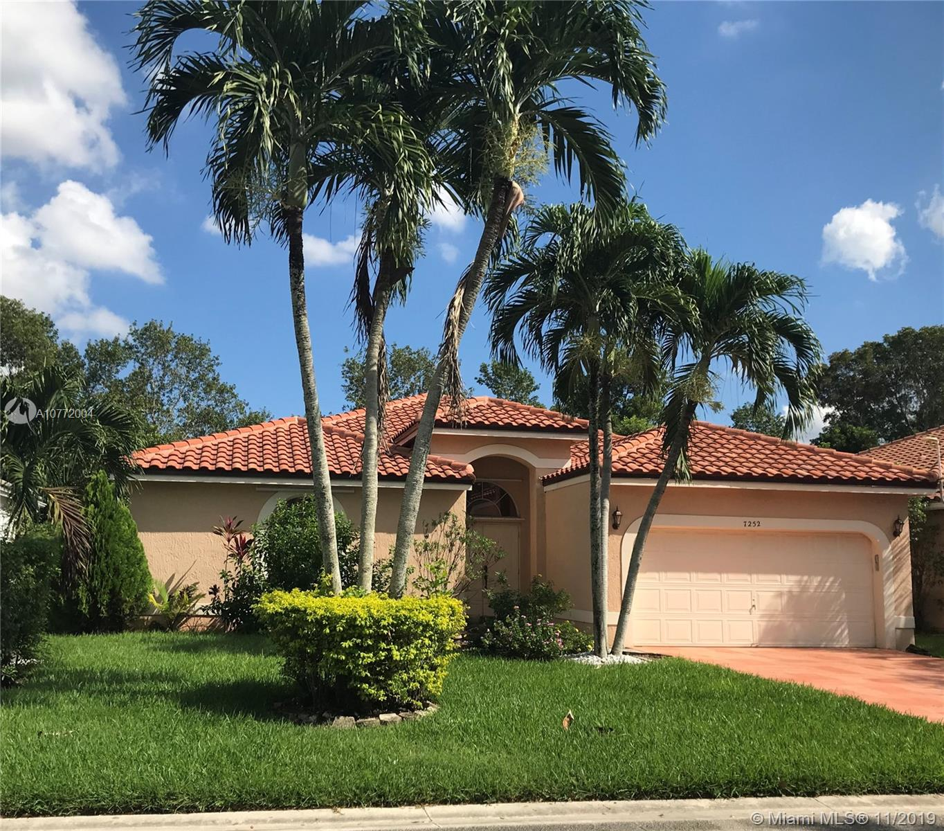 7252 NW 58th Way  For Sale A10772004, FL