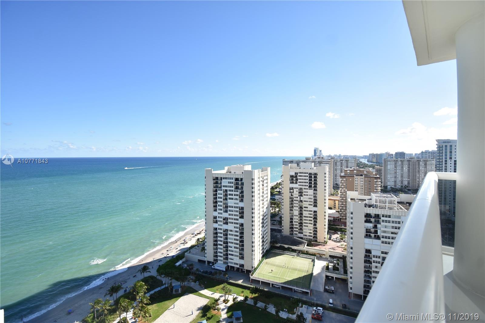 2019 Designer remodeled condo with infinity south east views, corner wrap around balcony with sunrise & sunset views, private terrace off the master bedroom, costume features are: 48x48 white porcelain floors indoor & outdoor, white mica kitchen with double storage at island, oversize water fall quartz counters, Viking appliances, quartz built in sink at kitchen and master bathroom, Brizo bathroom fixtures, Axor bathroom fixtures in master bathroom, costume glass doors in bathrooms, dropdown ceilings with high hats throughout, motorized shades, designer wall paper, oversize master closet, Italian designer interior doors,  linear ac  vents throughout the property. ALL BRAND NEW. Located on a  5 star resort amenities 50,000 sq.ft spa & fitness center, 7  pools,  concierge and beach service.