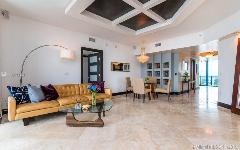 Upgraded High Floor Lexington model with stunning Ocean and River views. Floor-to-ceiling windows throughout. Motorized Somfy window treatments in every room. Walnut hardwood floors in bedrooms, Marble floors in living areas. Exceptional finishes include Custom ceiling, lighting, built-ins, doors, walk-in closets and Venetian plaster walls. Gourmet kitchen with Snaidero cabinets, granite countertops, S/S appliances. Flow-through open concept with east-facing and west-facing balconies. Private elevator with grand foyer entry. Building features resort-style amenities including tropical pool deck, world class 8,800 Sq. Ft. fitness center, concierge, library, club room, 24-hour front desk, valet and security.
