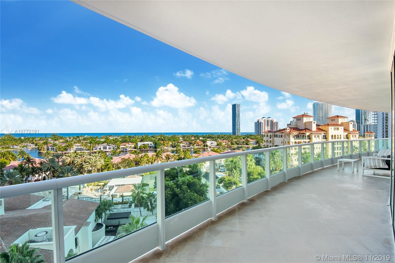 Spectacular and sophisticated condo. Three bedroom and three and a half bath, in the most luxury residence in Aventura-Porto Vita.Breathtaking views of the Atlantic Ocean and the Intracoastal waterway. Floor to ceiling windows and wrap around balcony. Top of the line appliances, snidero cabinetry, sub zero refrigerator, gagenov stove and oven, wine cooler. large ensuite with custom walk-in closets. Washer/dryer. Absolute first class amenities. Just renovated clubhouse with restaurant, lounge and bar. Tennis court, spa and fitness center and business center. Kids playground, pool, poolside restaurant. close to Aventura Mall, restaurants, shops, places of worship. Easy to show!. Bring your most discerning clients- ready to move in.