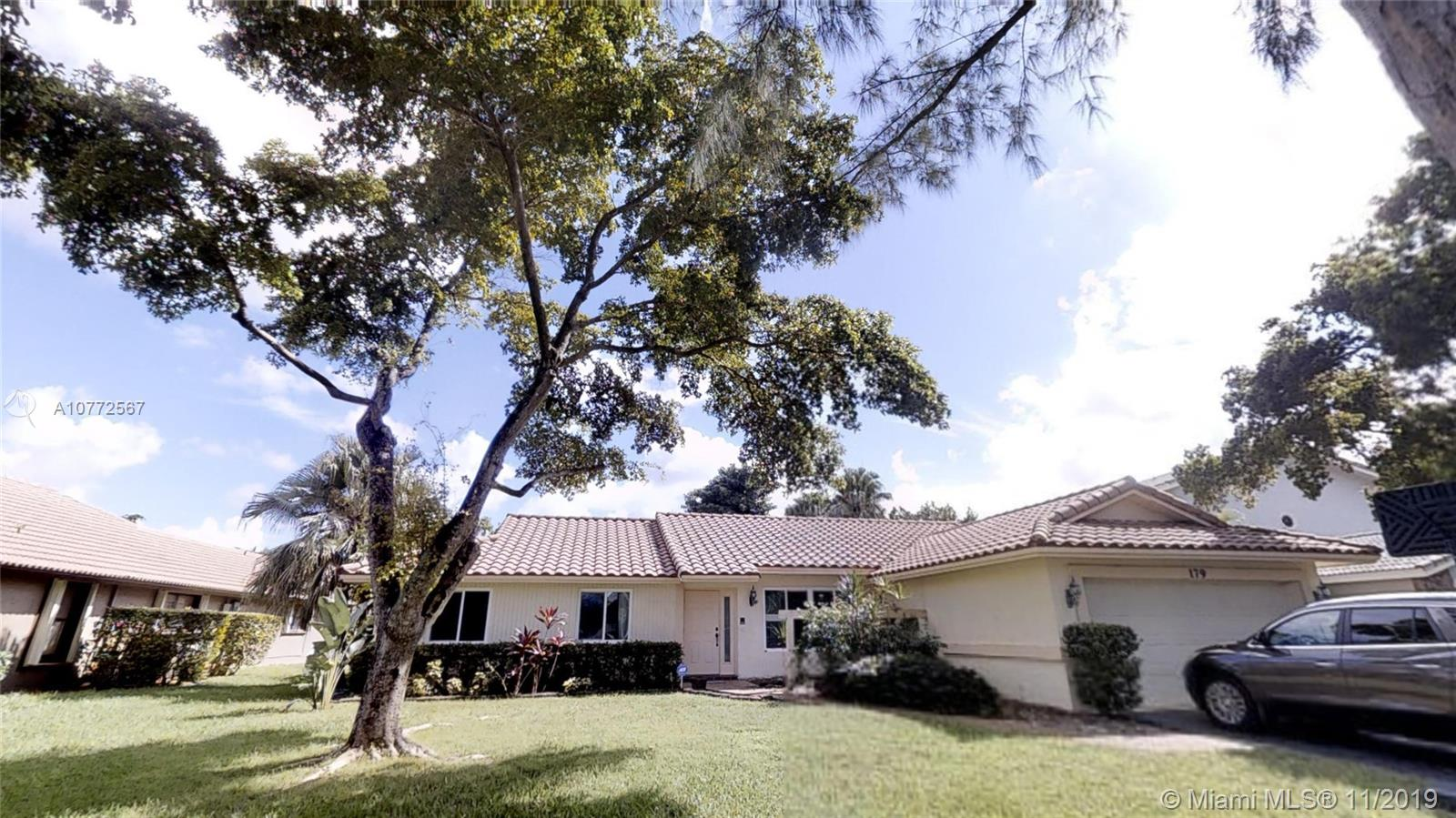 Entertain with your family and friends in this spacious Open floor plan Home with a Pool in the beautiful city of Coral Springs. Quite streets and neighborhood with no HOA. This 4 bedroom-perfect sized  with 2 bathrooms and both cabana to have easy access to the fenced pool area with a private backyard to enjoy yourself and relax. The whole house has hurricane impact windows with some doors as well! Seamless gutters, stainless steel appliances, Laminated wood flooring in the living and  family room, Tile in the eating kitchen,Eating Counter  and formal dinning room. Oversize 2 car garage walk-in distance to top schools with central location to local shops.