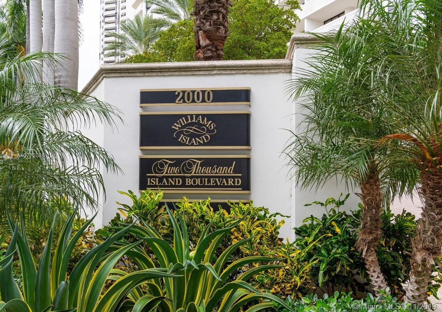 MUST SELL!  Fabulous Williams Island paradise with  luxurious lifestyle; breathtaking water and city views, bright and spacious split floor plan. 2bed/2 bath/1 guest bath; California walk-in closet; washer&dryer; 1covered parking space included and 1 storage space. Complementary valet parking.  27,000 sqft Spa, Fitness and Wellness Center; Island Club; Island Grill Restaurant; Pool Bar; Children's Park; 12 clay tennis courts and 1 hard cushioned court, all illuminated for evening use; House of worship. Marina that can accommodate Yachts up to 160 ft. Full Service Marina; Dog Park; Brand new lobby and common areas. seller very motivated. send your offers!!