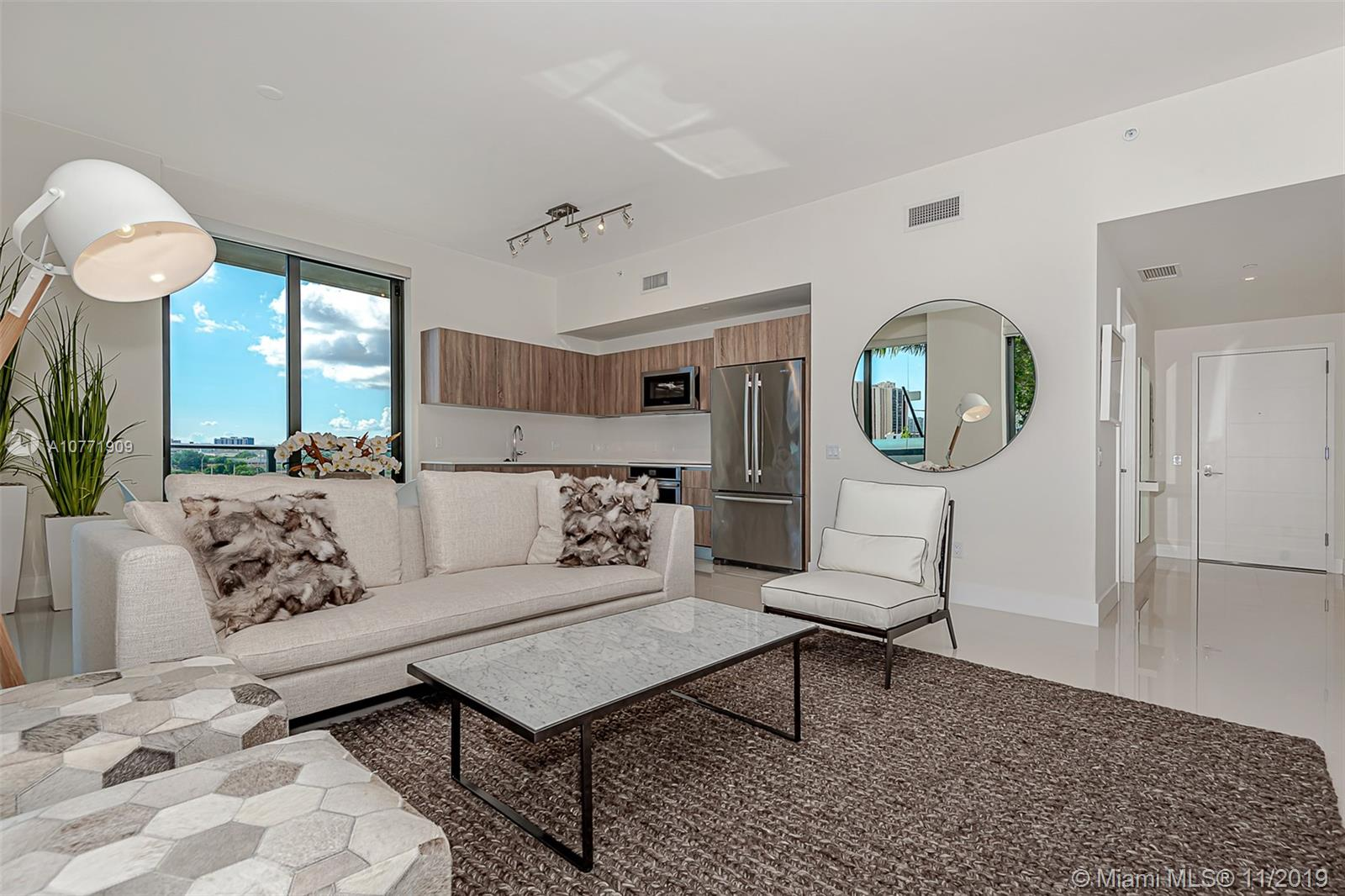 Most sought after 2 bedroom residence in the most coveted new development in Aventura. This is a corner pool facing Designer-Furnished Lanai residence with over 600 sqft of private outdoor space belonging to the residence. Build your own outdoor kitchen or create a private oasis for your pleasure! There are only 3 pool side Lanai residences in the building and only this one is for sale. Aventura ParkSquare is where the energy and and excitement of city life merges with the absolute convenience of living in a mixed use property. Reduce the time you spend in traffic and increase the time you spend enjoying your life! Casa D'Angelo, Bar Taco, Delicious Raw, Ono Poke, The Carrot, Barry's Bootcamp, Vana Laser Club, Armandeus Salon, Whole Foods, Promenade Shops and more... All in your back yard!