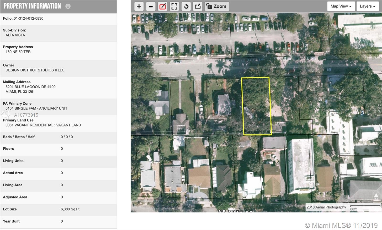 160 NE 50th Ter  For Sale A10773915, FL