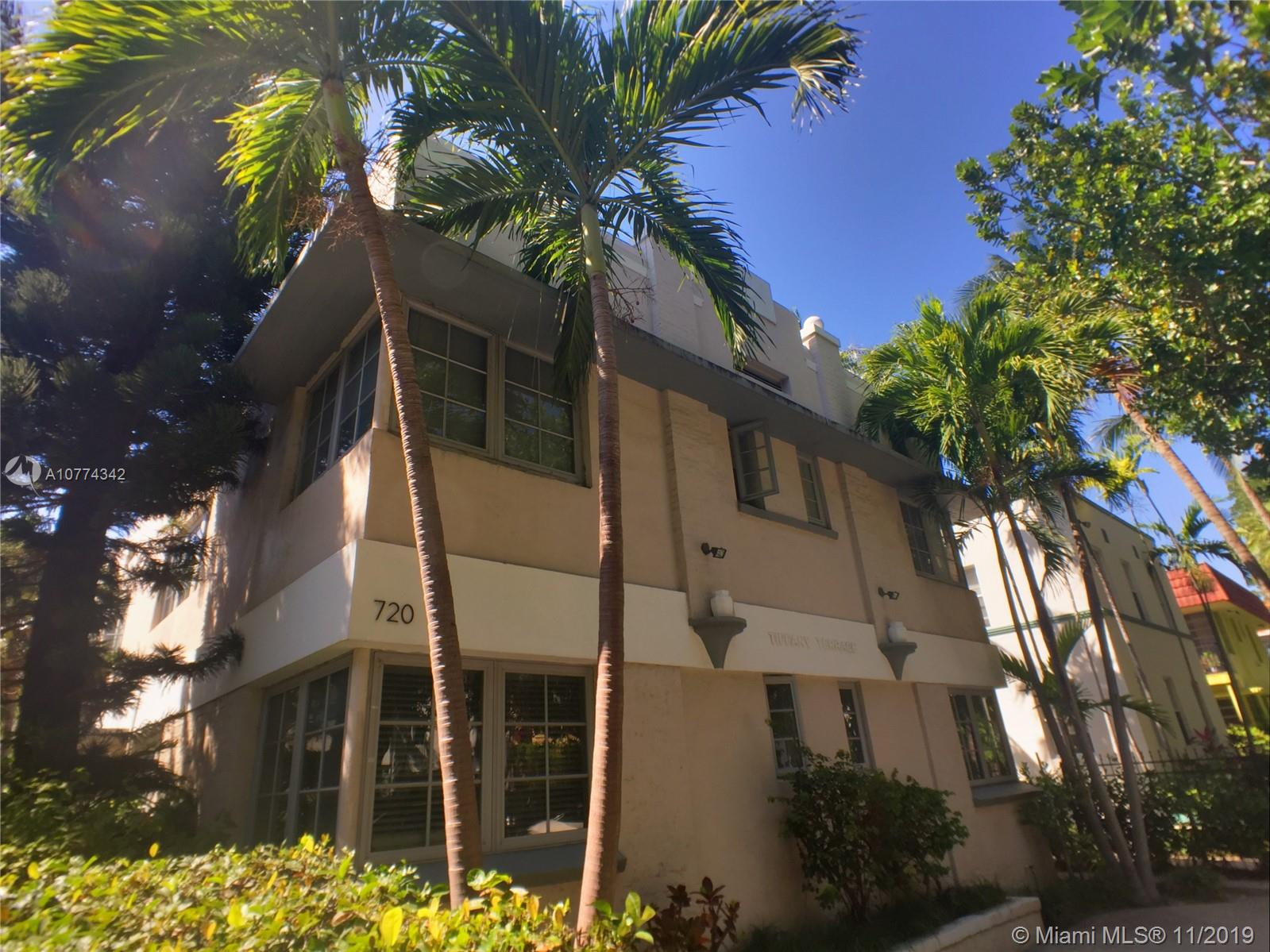 720  Meridian Ave #4 For Sale A10774342, FL