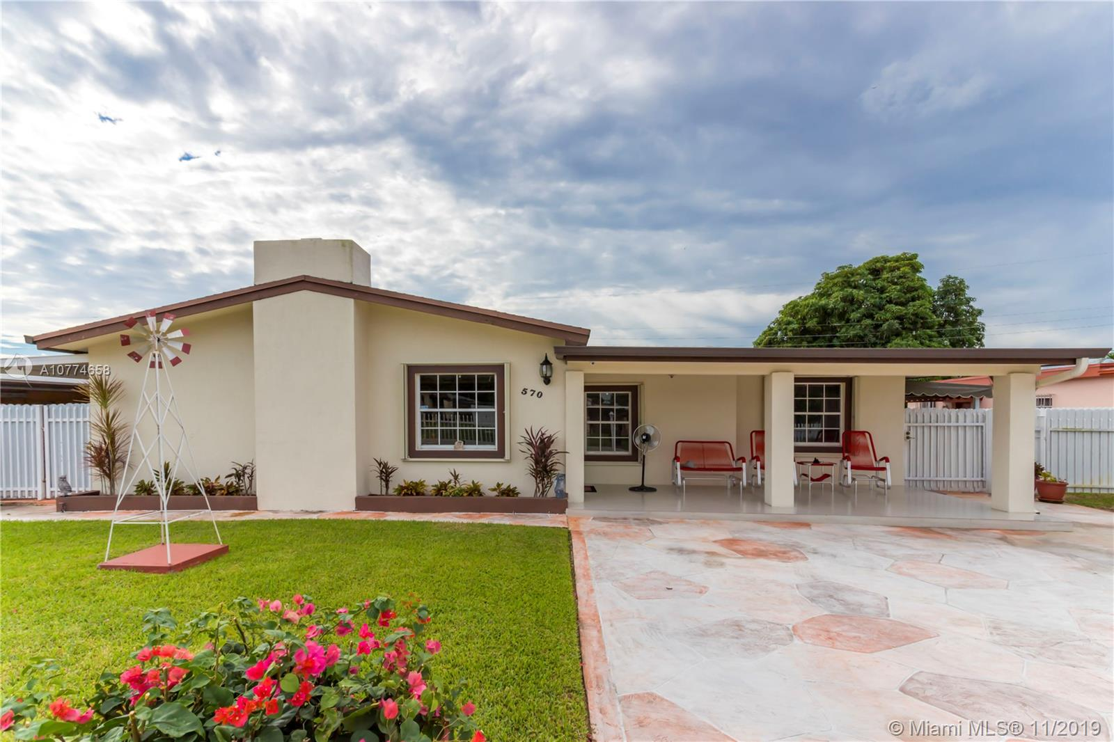 570 W 36th PL  For Sale A10774658, FL