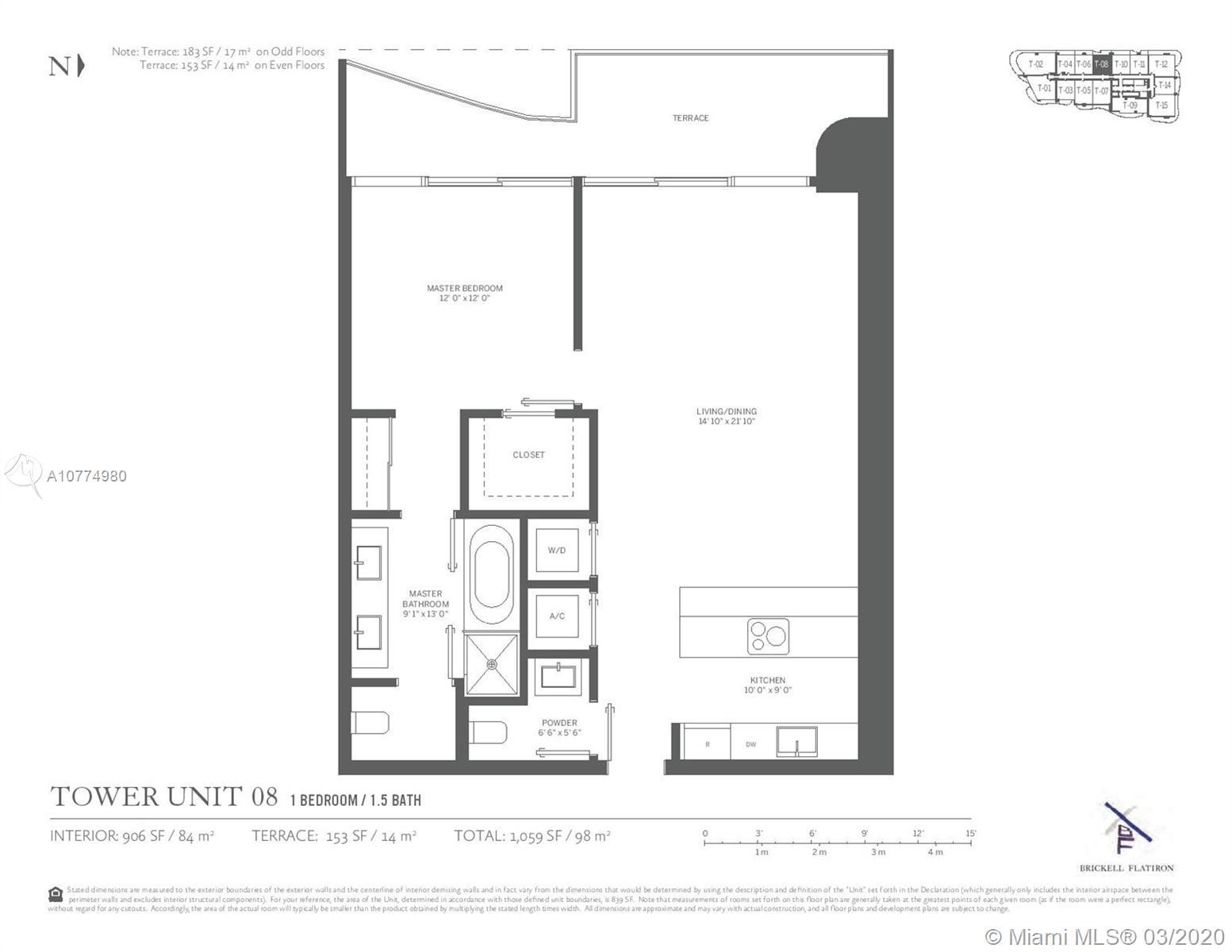 1000  Brickell Plaza #2808 For Sale A10774980, FL