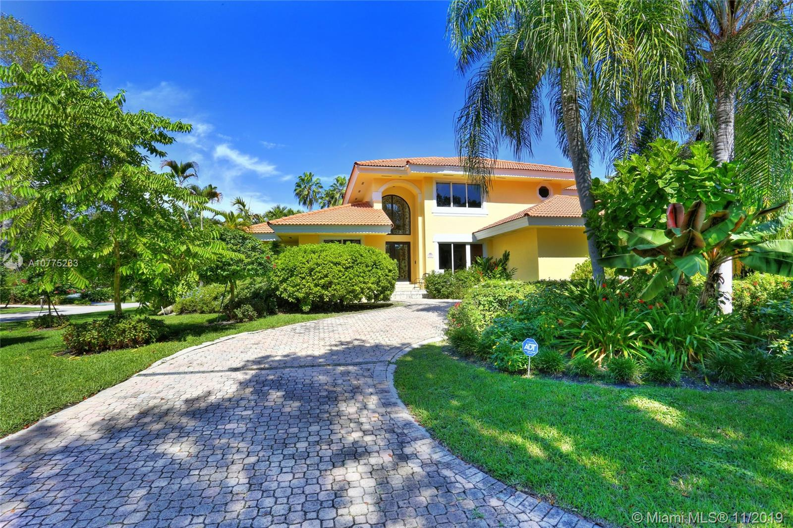 Located in a popular and prestigious Cocoplum, this 5 bedroom, 5 bath home epitomizes luxury living! Sited on a corner lot of some 15,950 sf, this lovely 4,750 sf Mediterranean villa offers an opportunity fr luxurious family living at its best.  Lovely grounds, beautiful pool area, gourmet cook's kitchen and luxurious master suite, are just a few of the amenities this home as to offer.  Motivated seller has moved on to a larger Cocoplum home.