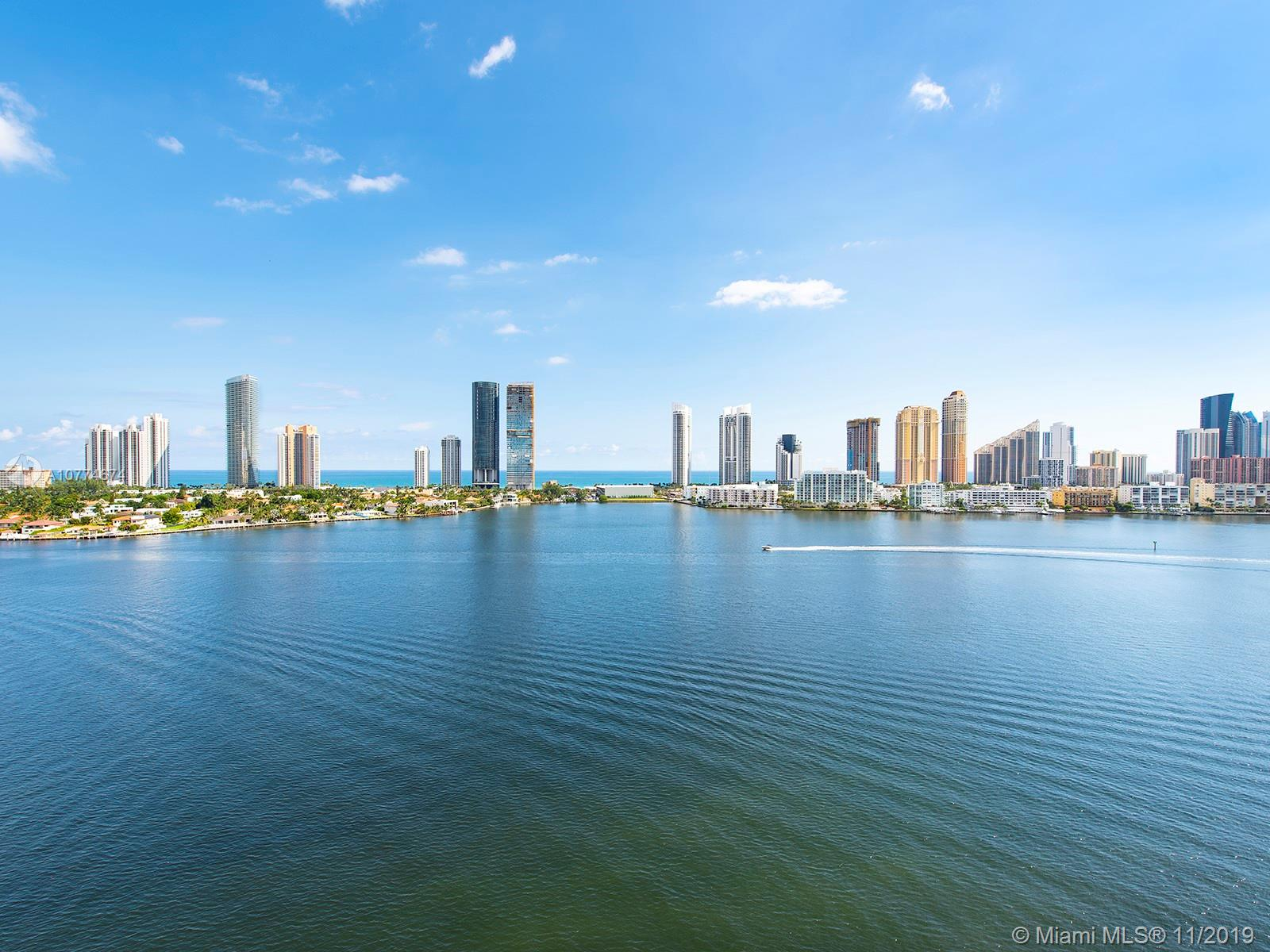 Prive Island. Luxury living in Aventura area. One of a kind 3bed/4.1bath w/private elevator entrance foyer. Unobstructed waterfront views from every room. Spacious balconies. BBQ kitchen. 10ft floor-ceiling glass. Italian porcelain floors throughout. Custom white Italian kitchen cabinets. Miele appliances. Built-in closets. Five-star amenities include: onsite café; social room; 2 oversized pools w/service of towels, sunblock & bottle water; outdoor Jacuzzis; tennis courts; state of the art Gym & Spa, jogging trail; kid's & toddler's areas; 3 parking spaces 113-114-115 + complimentary valet; concierge; 24-hour security. Prive has no limits to offer its residents an extraordinary lifestyle. CAN BE PURCHASED TOGETHER W/SUITE 9N.  Approx Interior 2,979SF. Terrace 854SF. TOTAL 3,833SF.