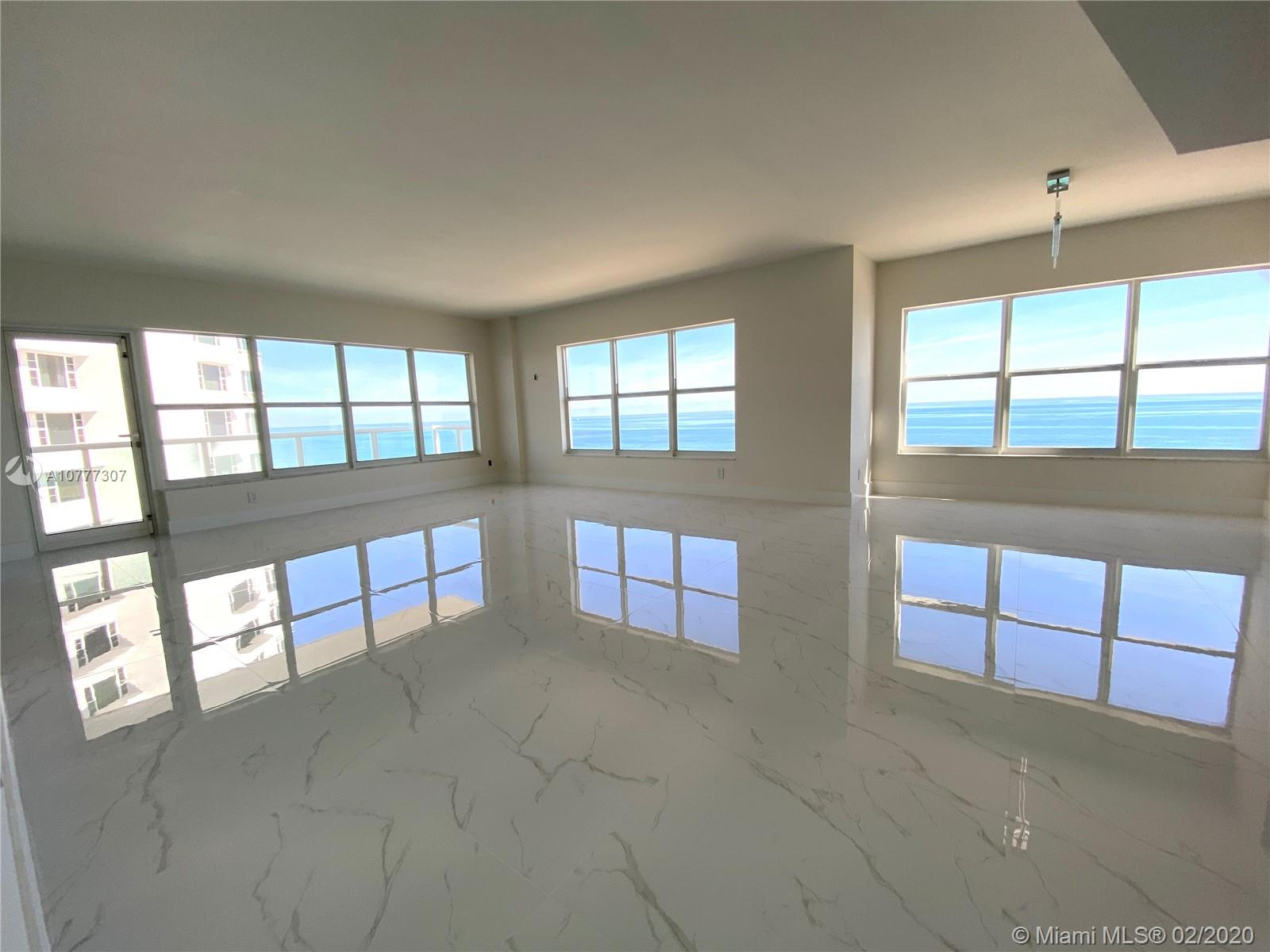 DIRECT FRONT OCEAN VIEW !!!! BRAND NEW !!! NEW CARRARA PORCELAIN TILE, APPLIANCES, BATHROOMS, CLOSETS, KITCHEN CABINETS !!!! MUST SEE !!!  finish remodel end of November !!